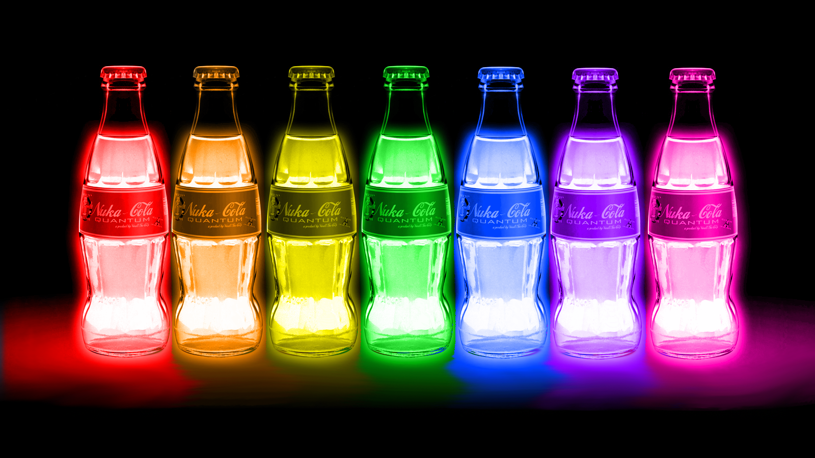 FALLOUT drink nuclear radiation color glow neon
