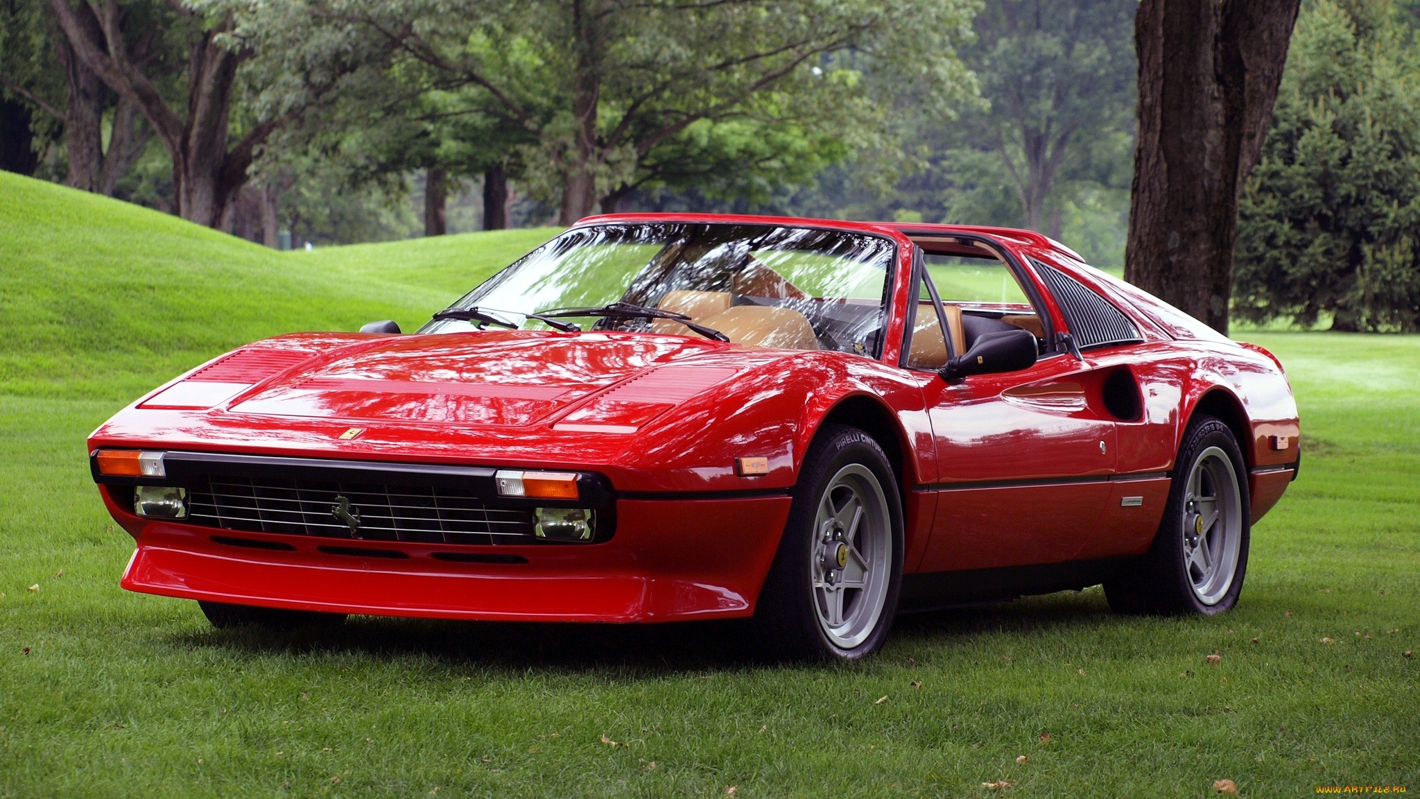Ferrari 308 supercar red grass