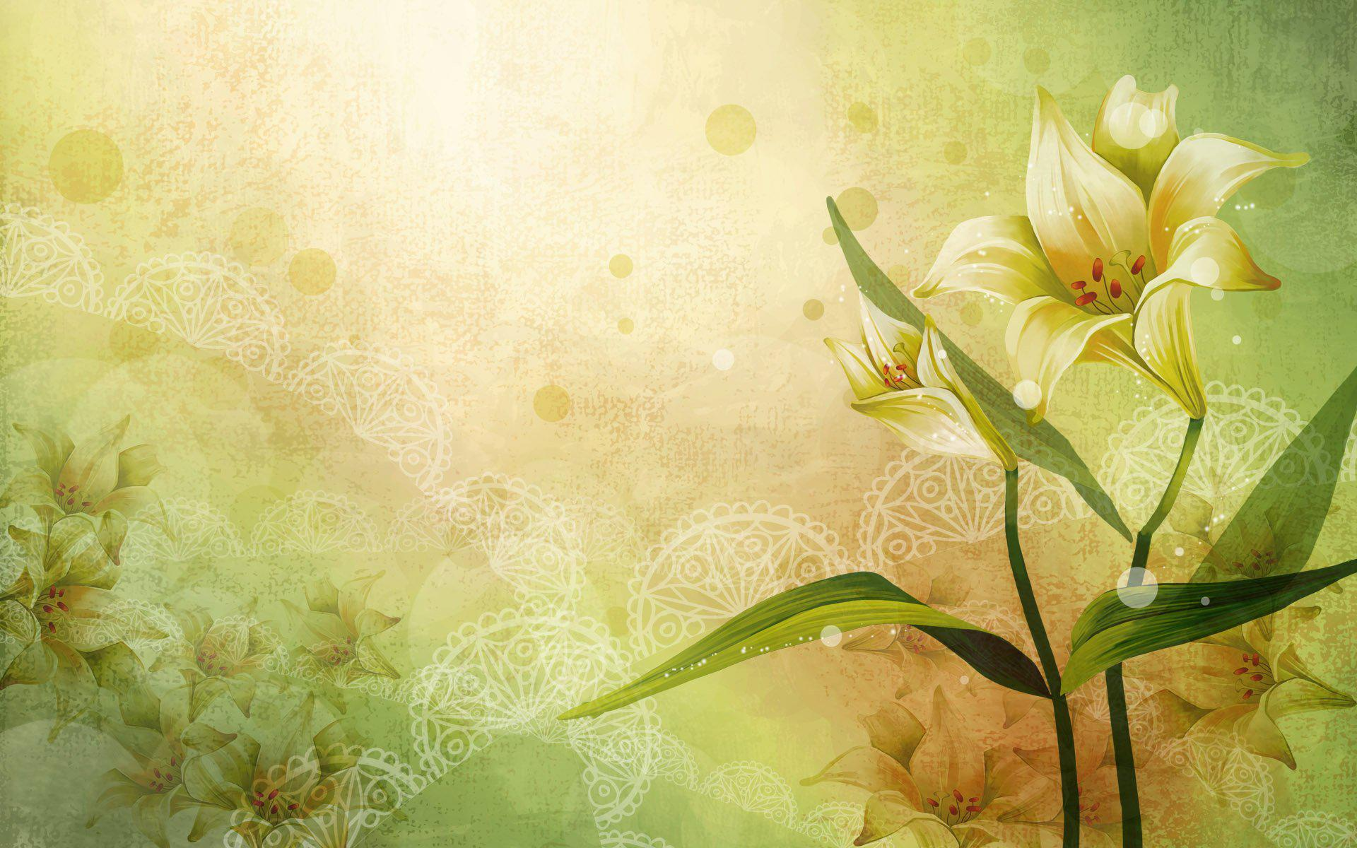 flowers art vector abstract colors lovely