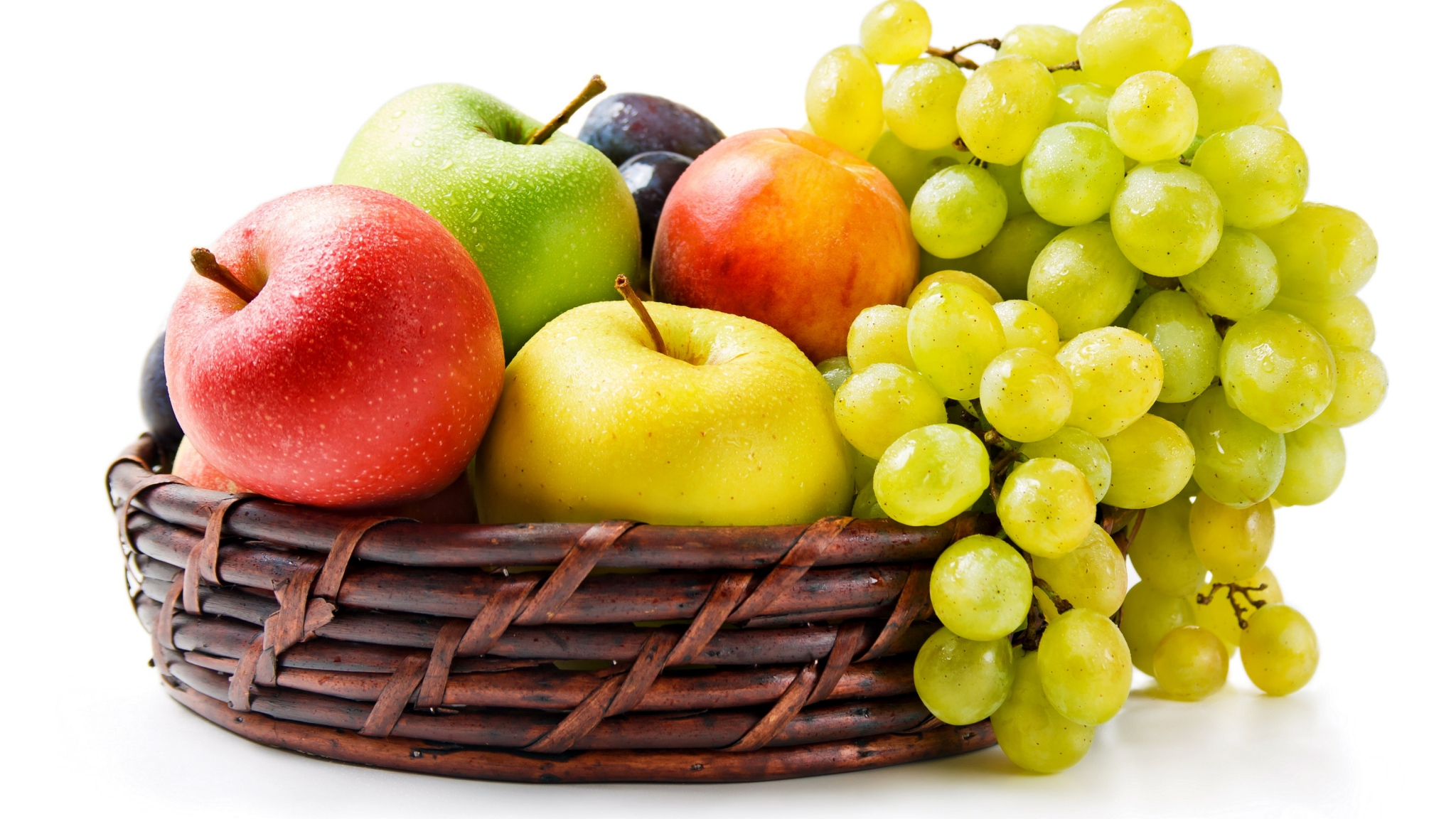 Grapes and apple