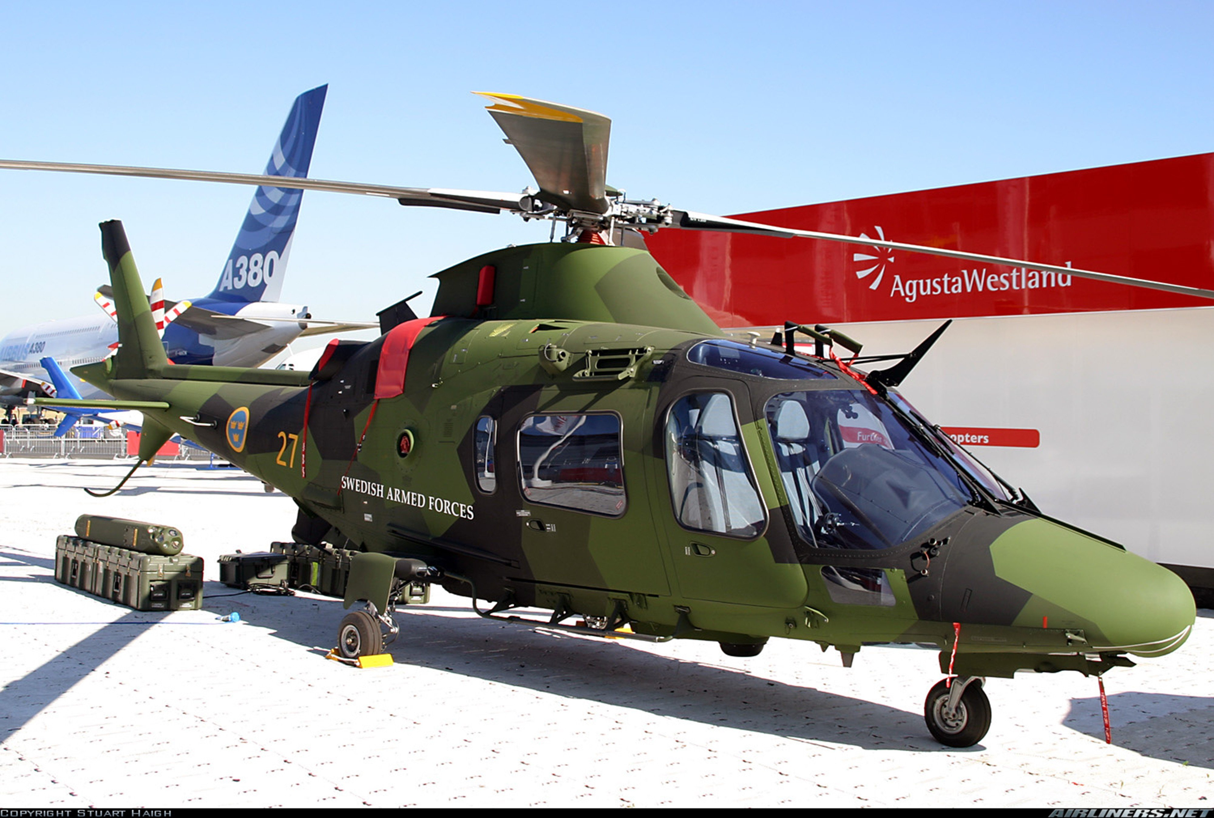 helicopter aircraft Sweden military army agusta westland