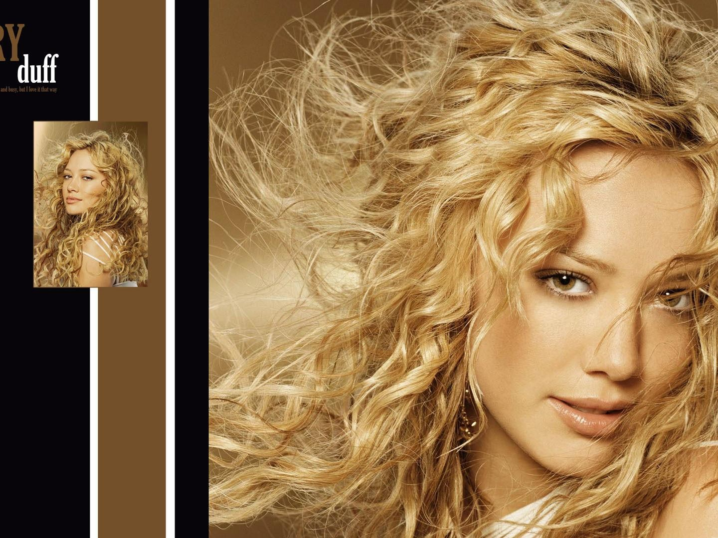 Hilary Duff with curly hair