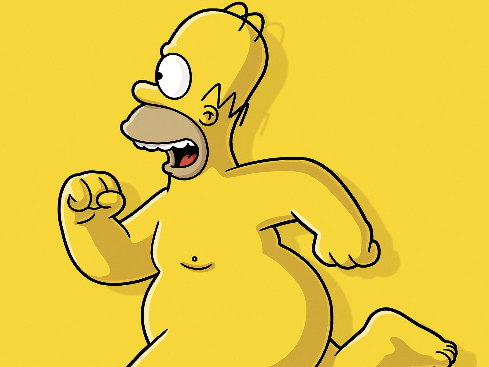 Homer Simpson The Simpsons nude
