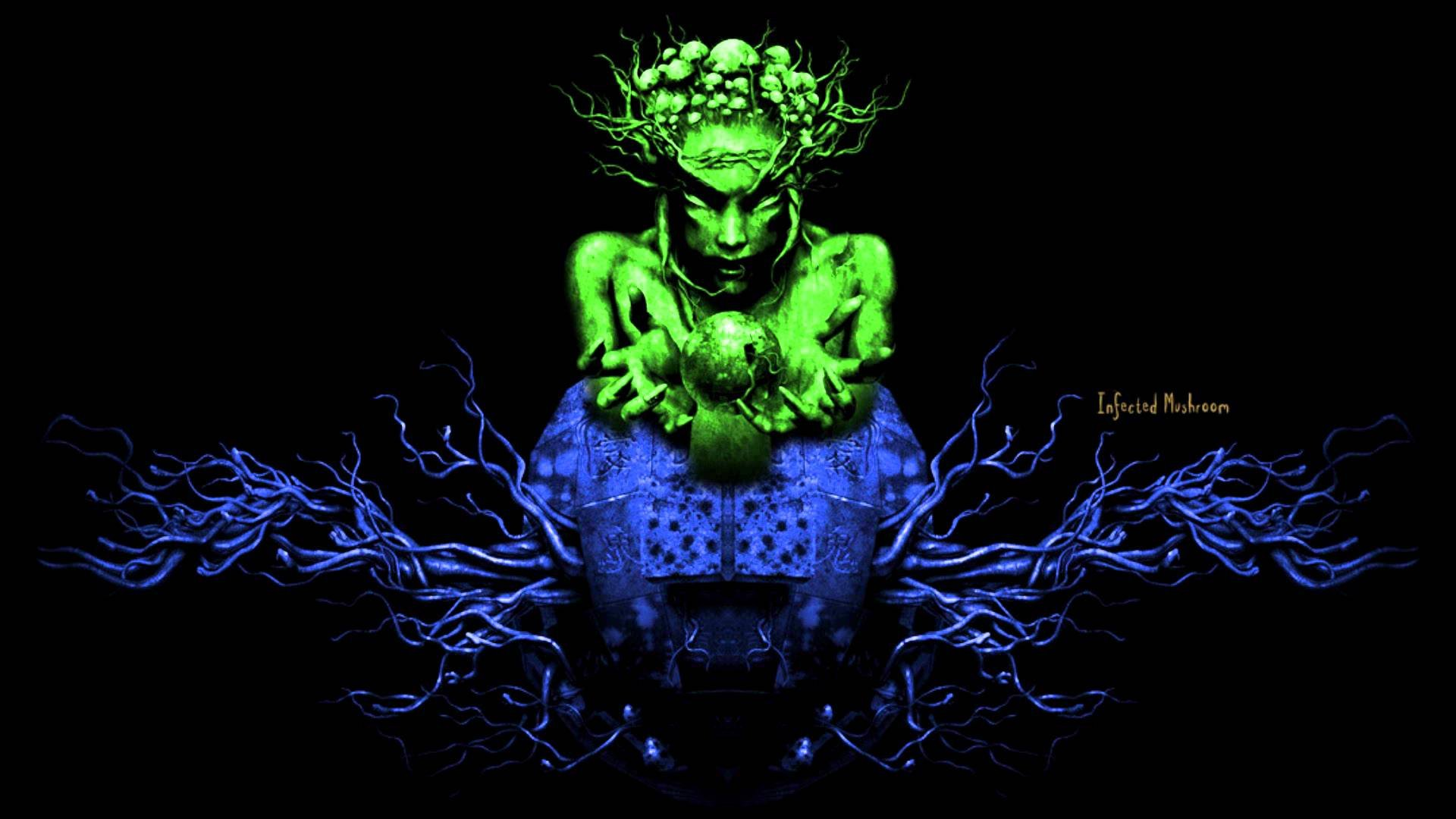INFECTED MUSHROOM psychedelic trance electro house electronica electronic rock industrial disc jockey 1imush artwork fantasy