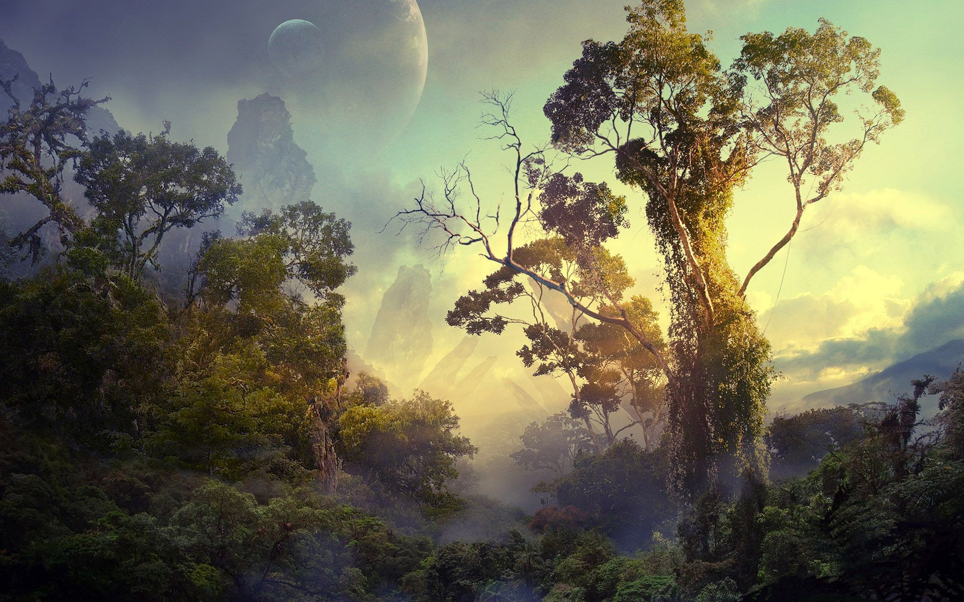 Jungle on a foreign planet