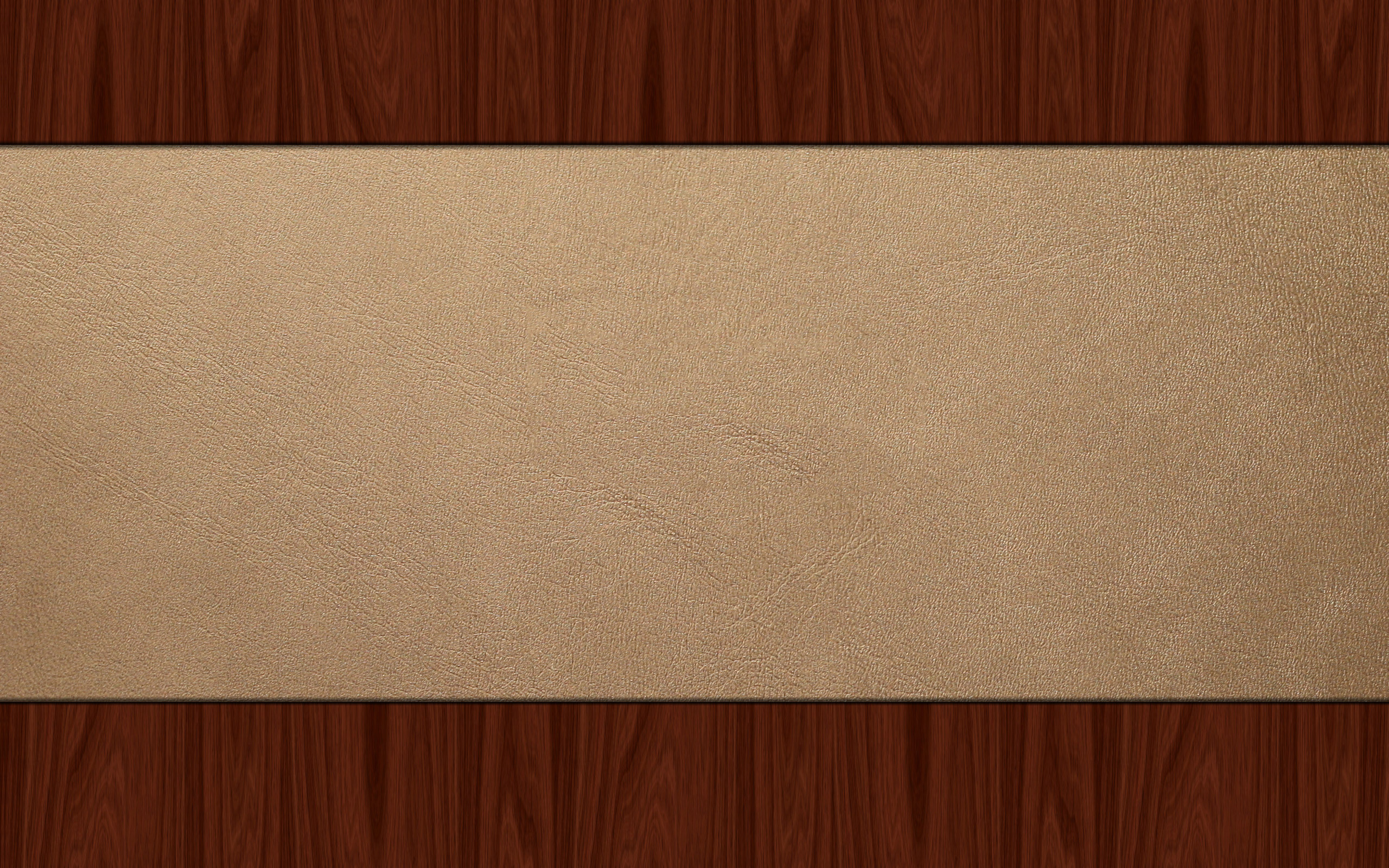 Leather minimalistic wood