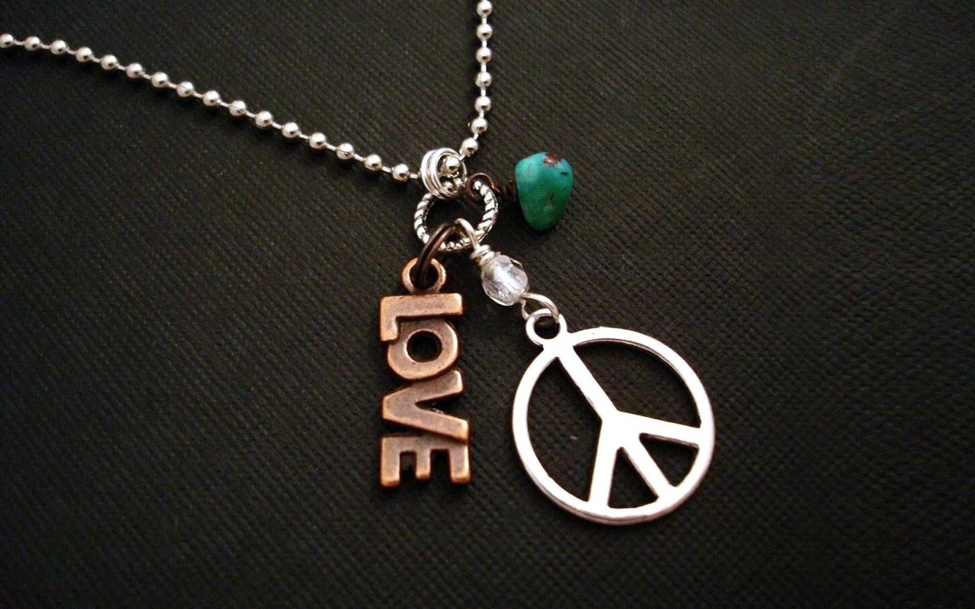 love peace hippie necklaces peace sign