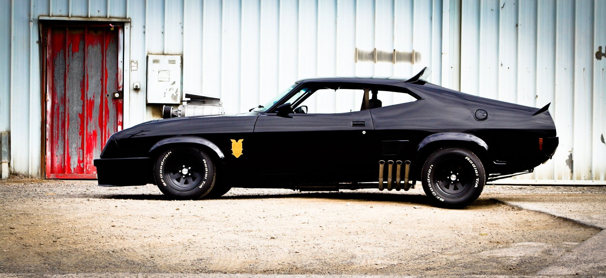 mad max interceptor ford falcon aussie muscle car ford australia vehicles cars hot rod custom muscle black stance