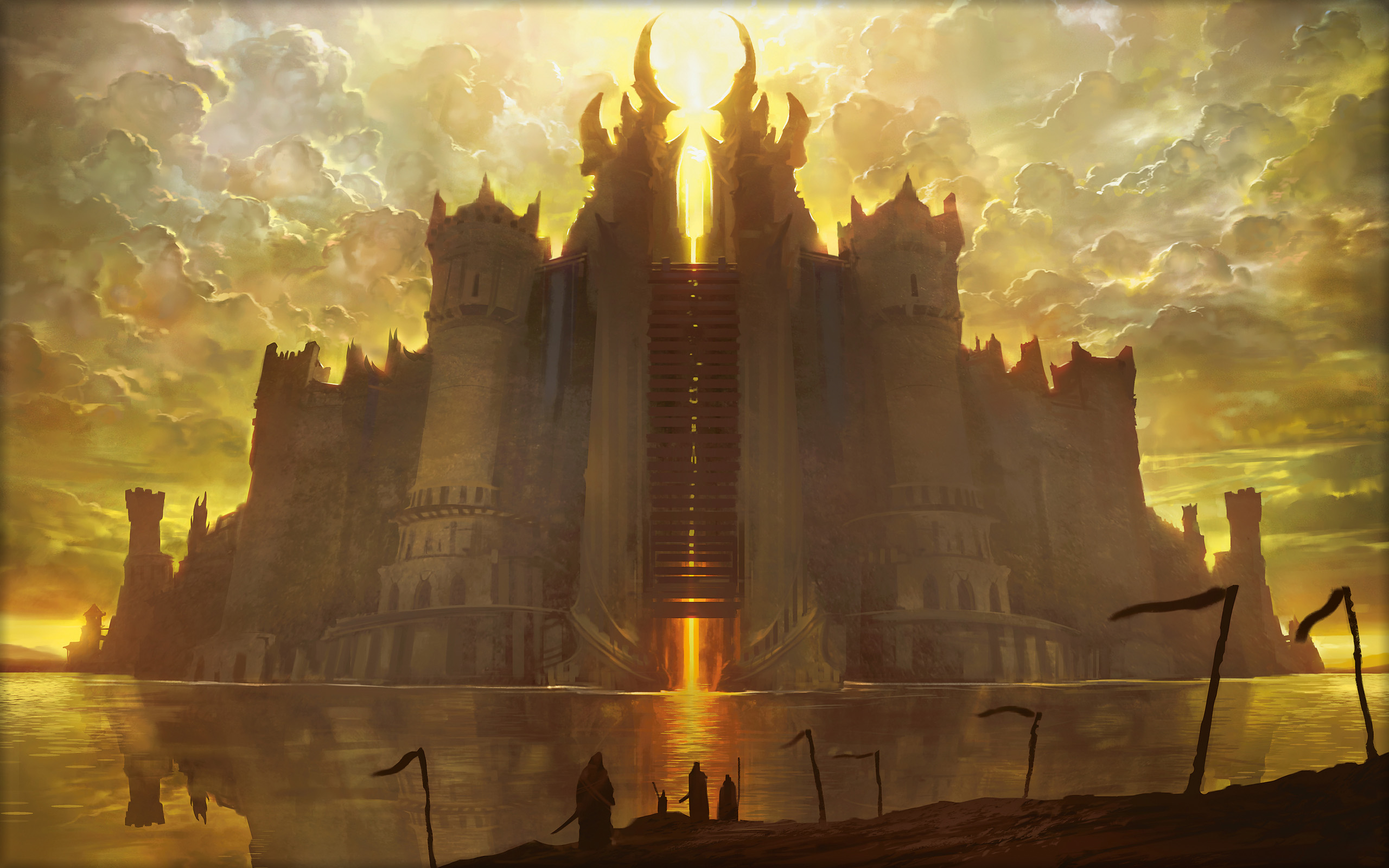 Magic The Gathering Drawing Castle fantasy