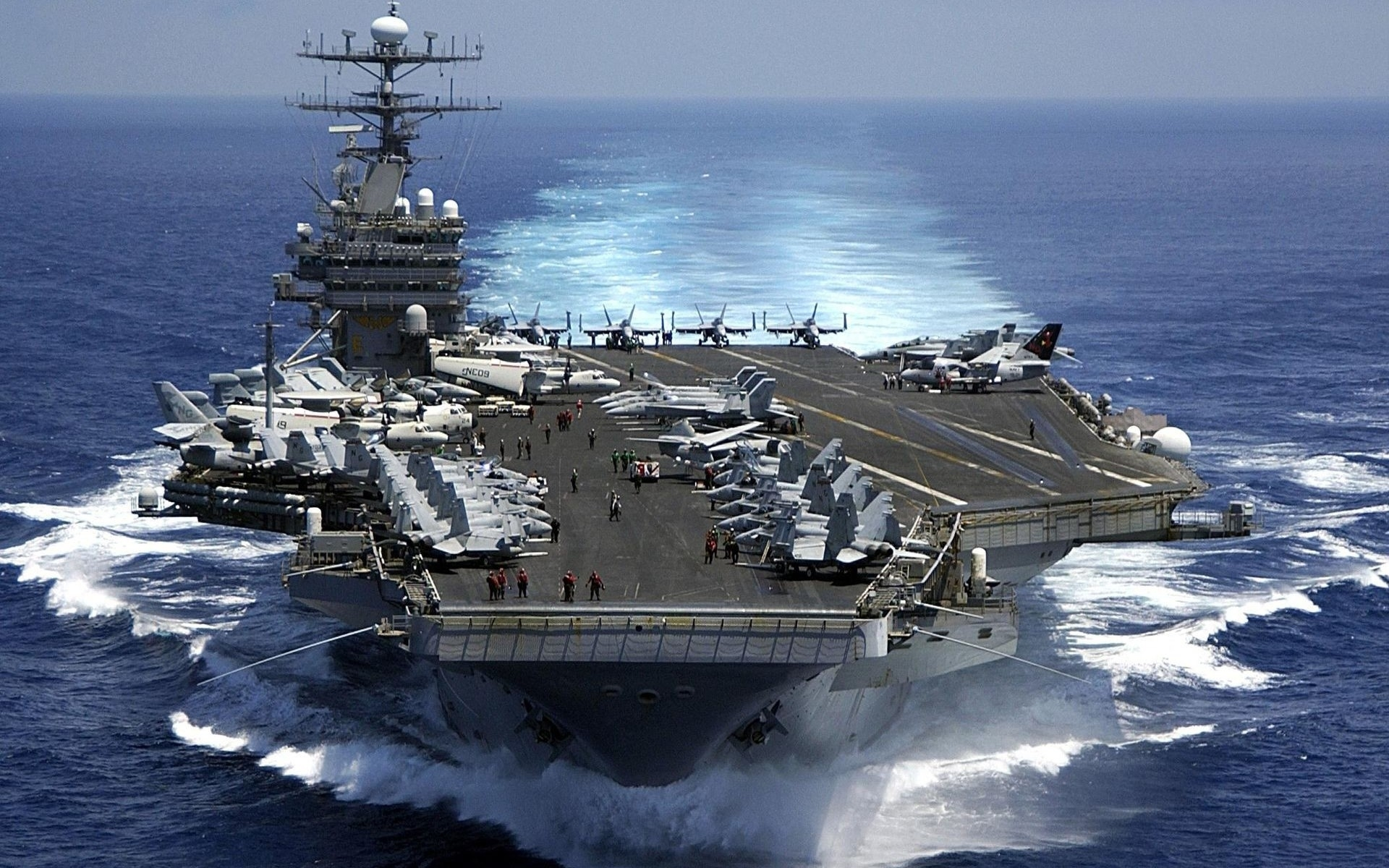 military navy aircraft carrier fighter jets aircraft ocean sea