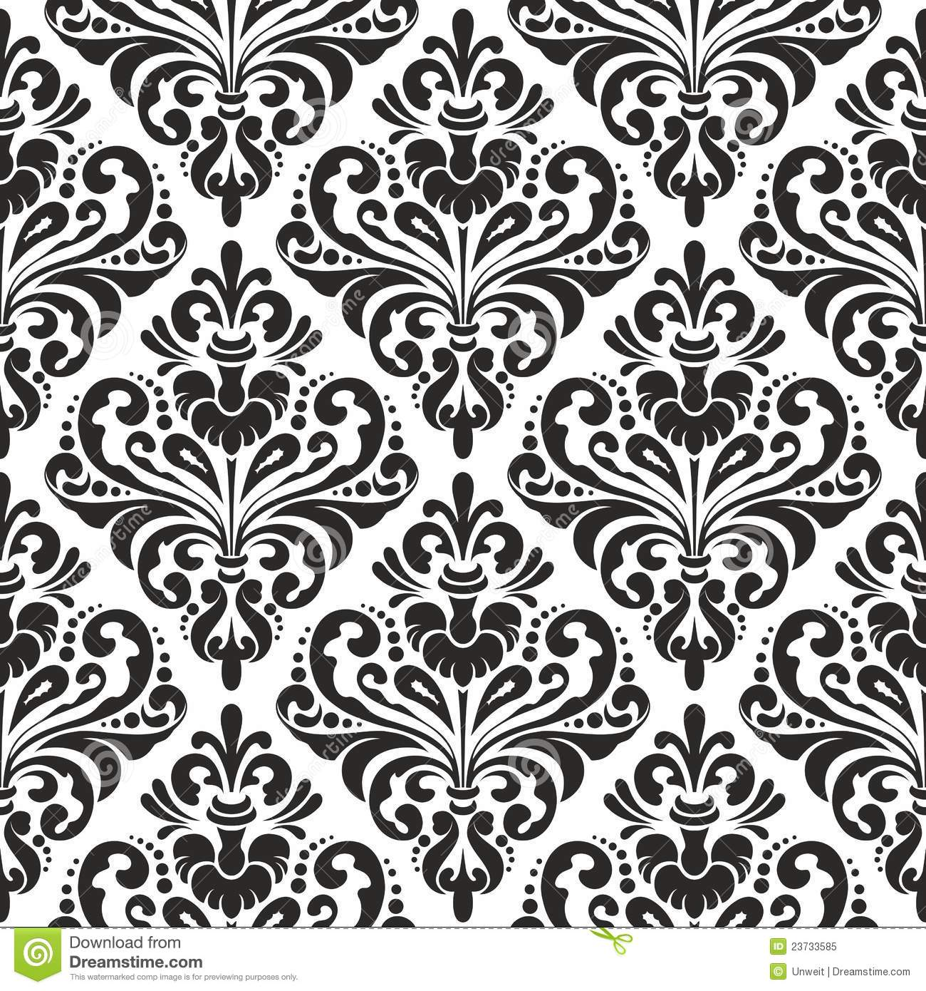 Monochrome flower pattern