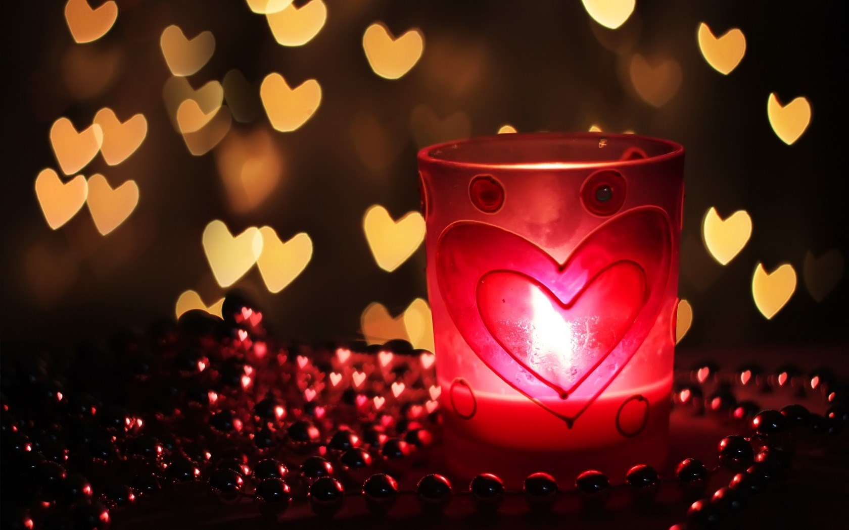 Mood Candle Fire Flame Hearts