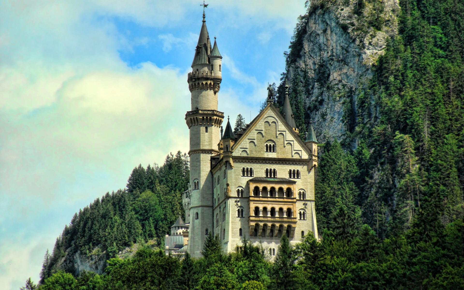 Mountains castles forest
