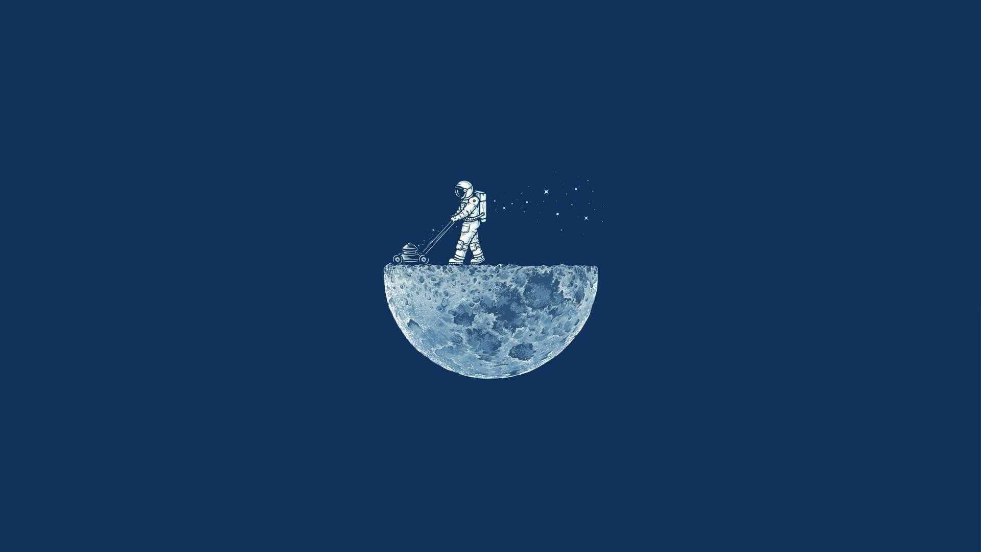Mowing the moon