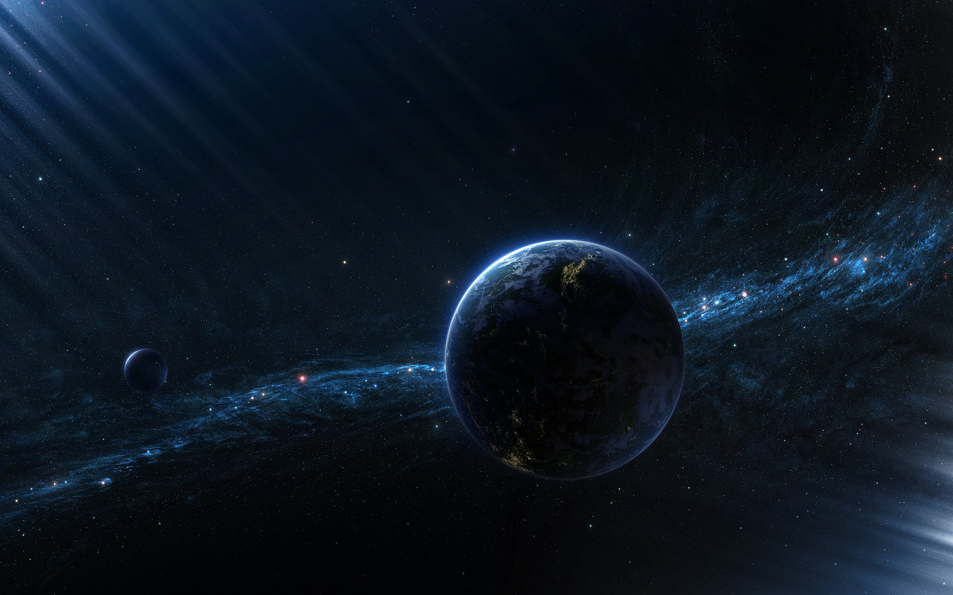 Outer space planets deviantart