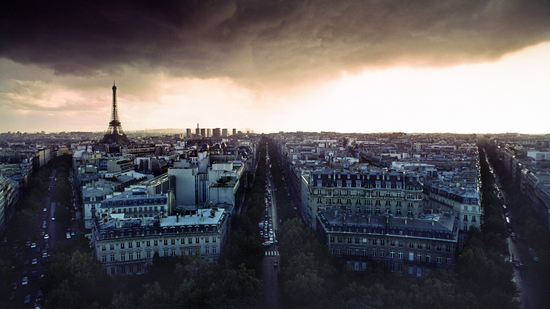 Paris clouds rain France