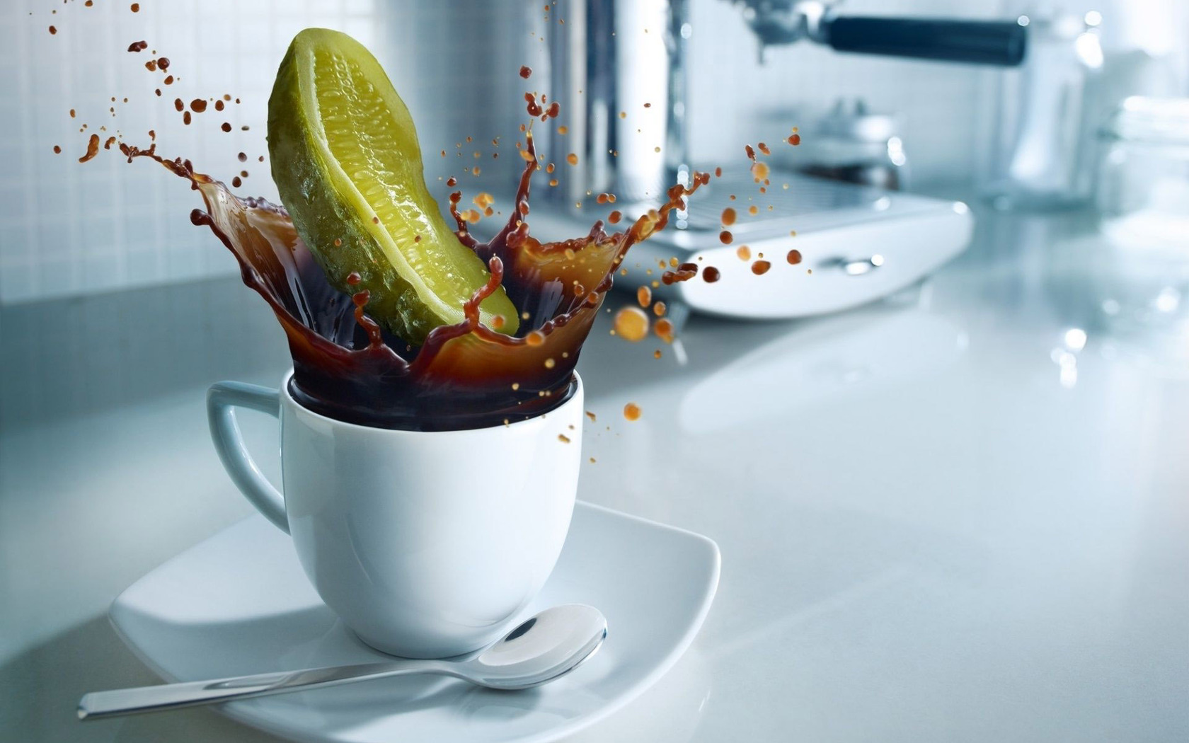 Pickle in the coffee