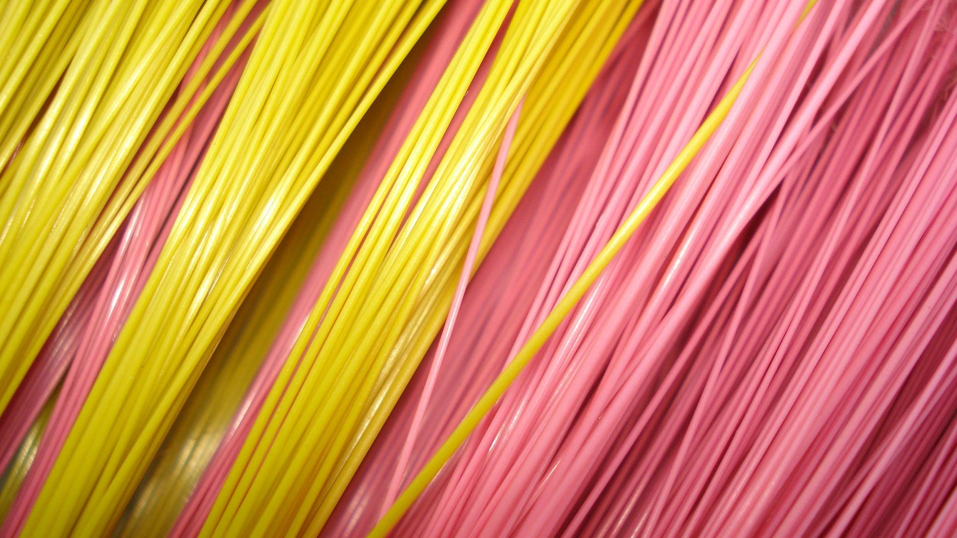 Pink and yellow wires
