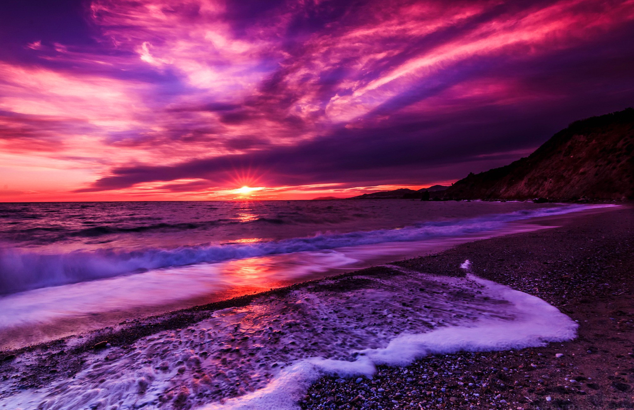 Purple Sunset Background