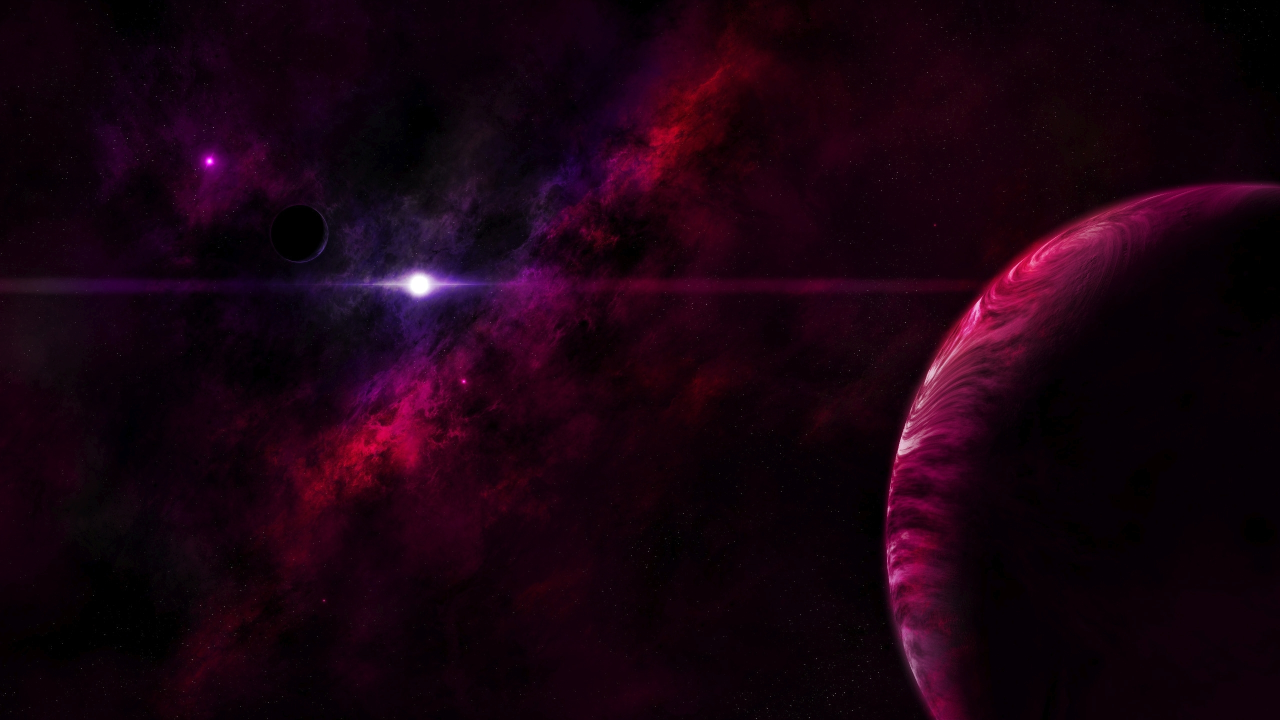 Red planets and a shiny star
