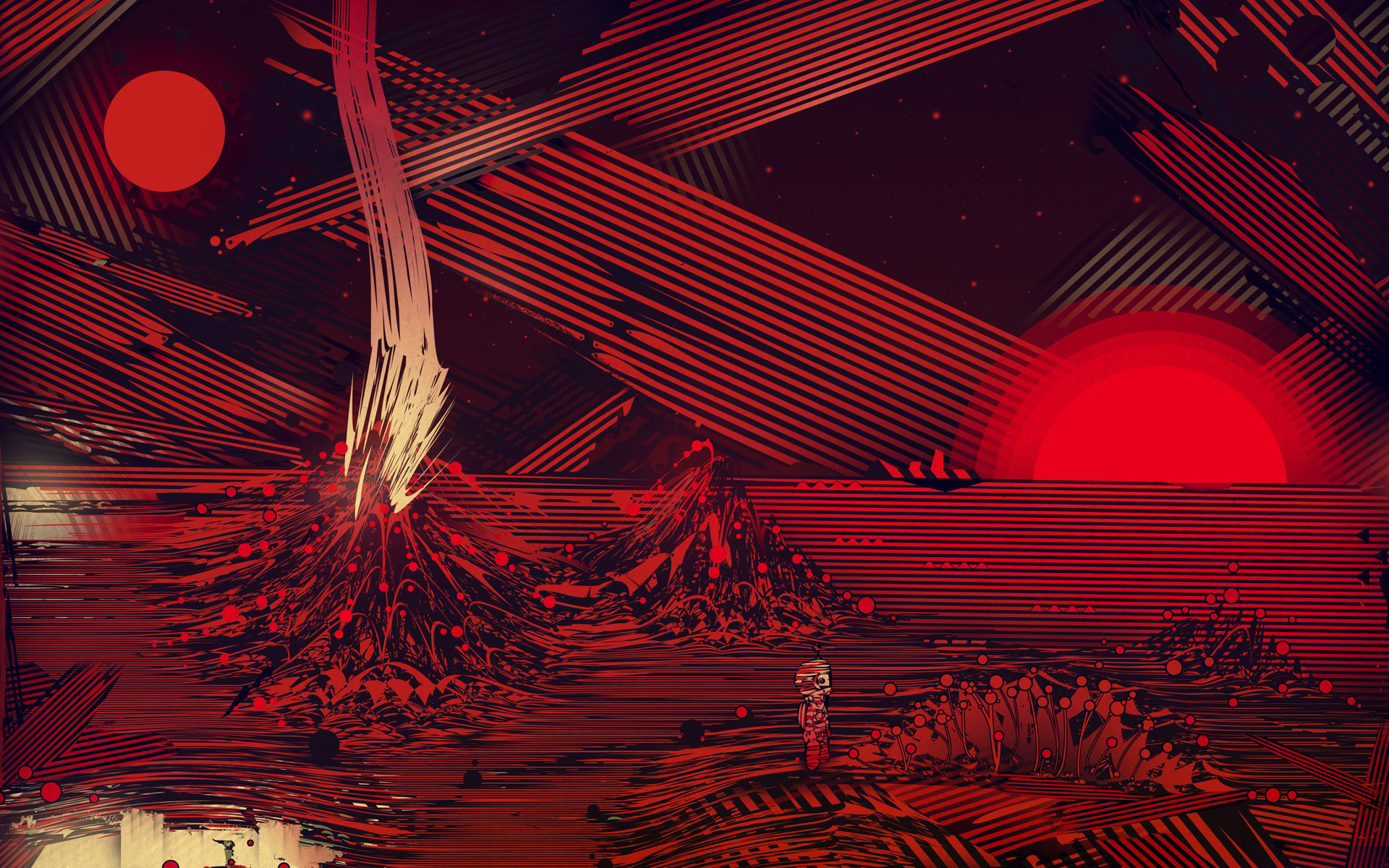 Red striped planet