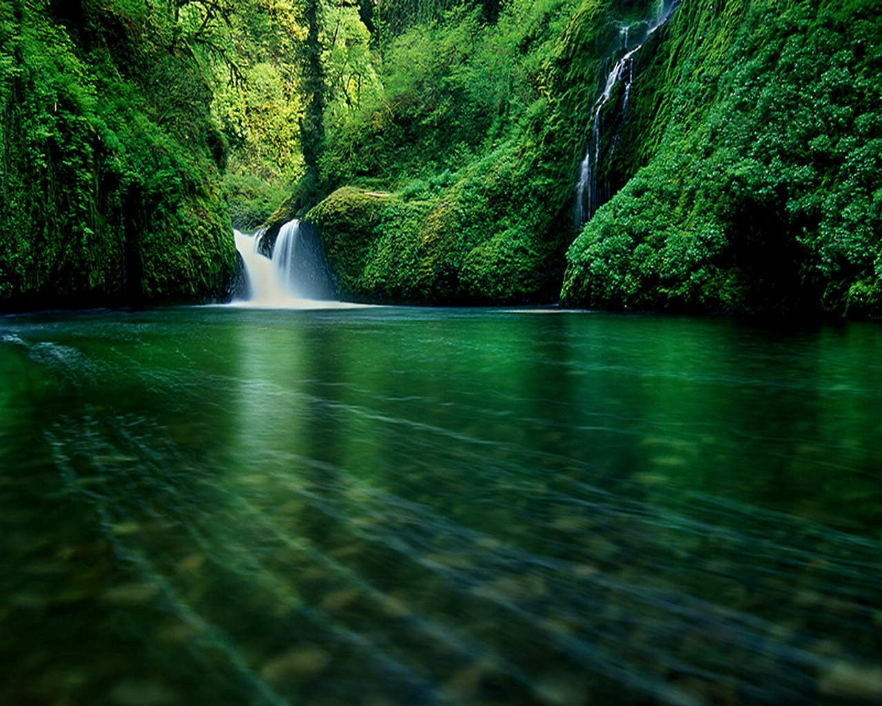 river_waterfall_forest_nature