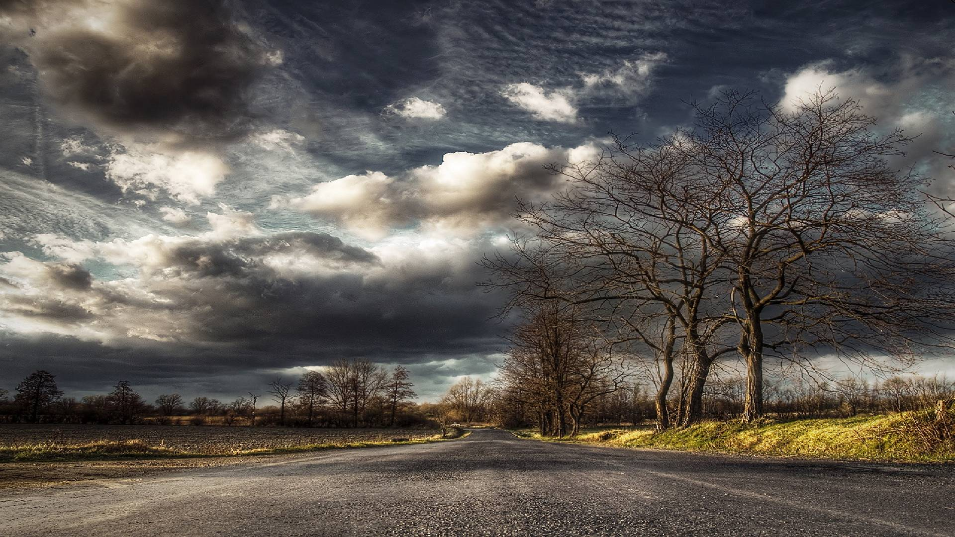 roads HDR photography