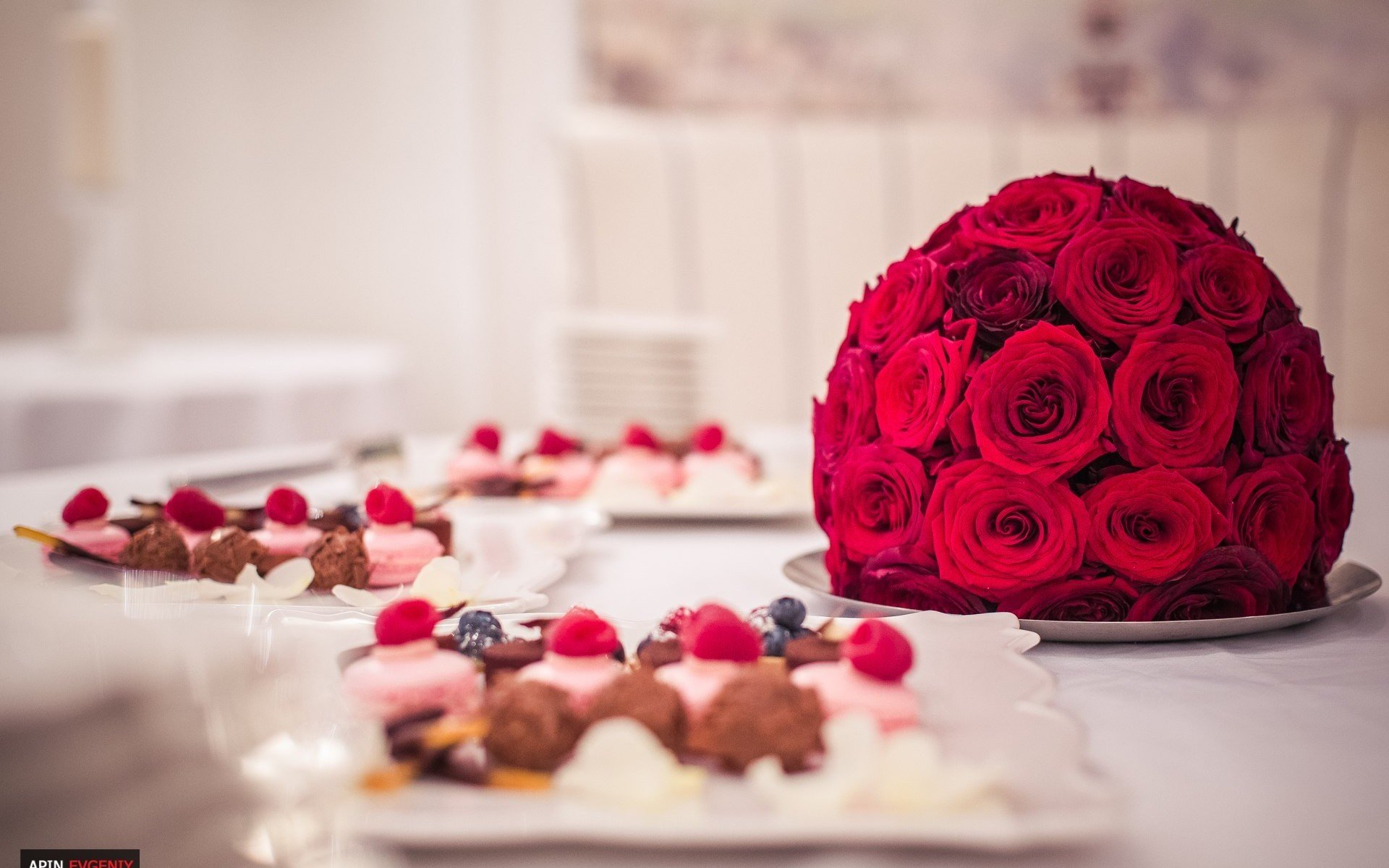 roses decoration food cakes sweet