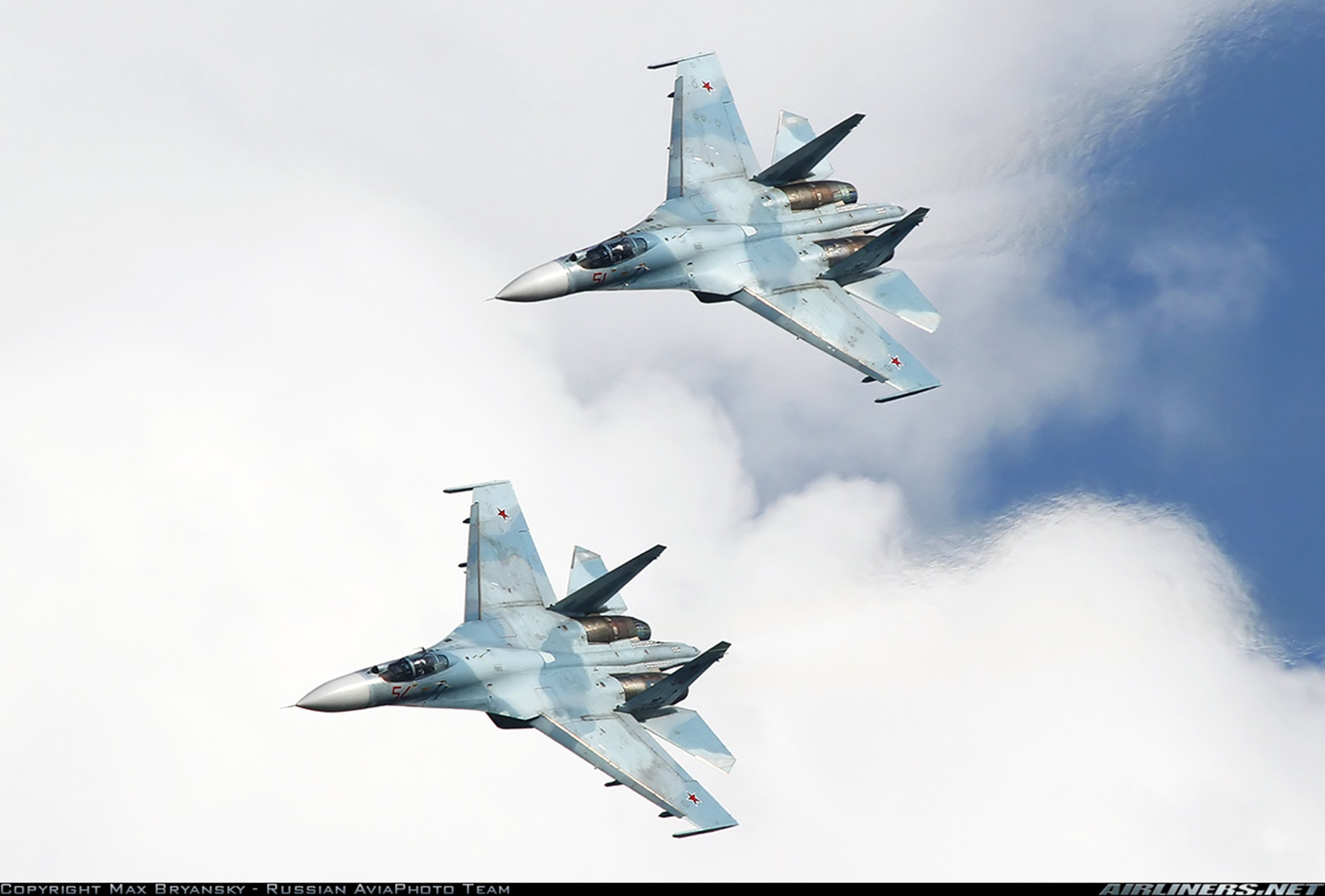Russia air force jet fighter Sukhoi Su-27SM3 3000x2030