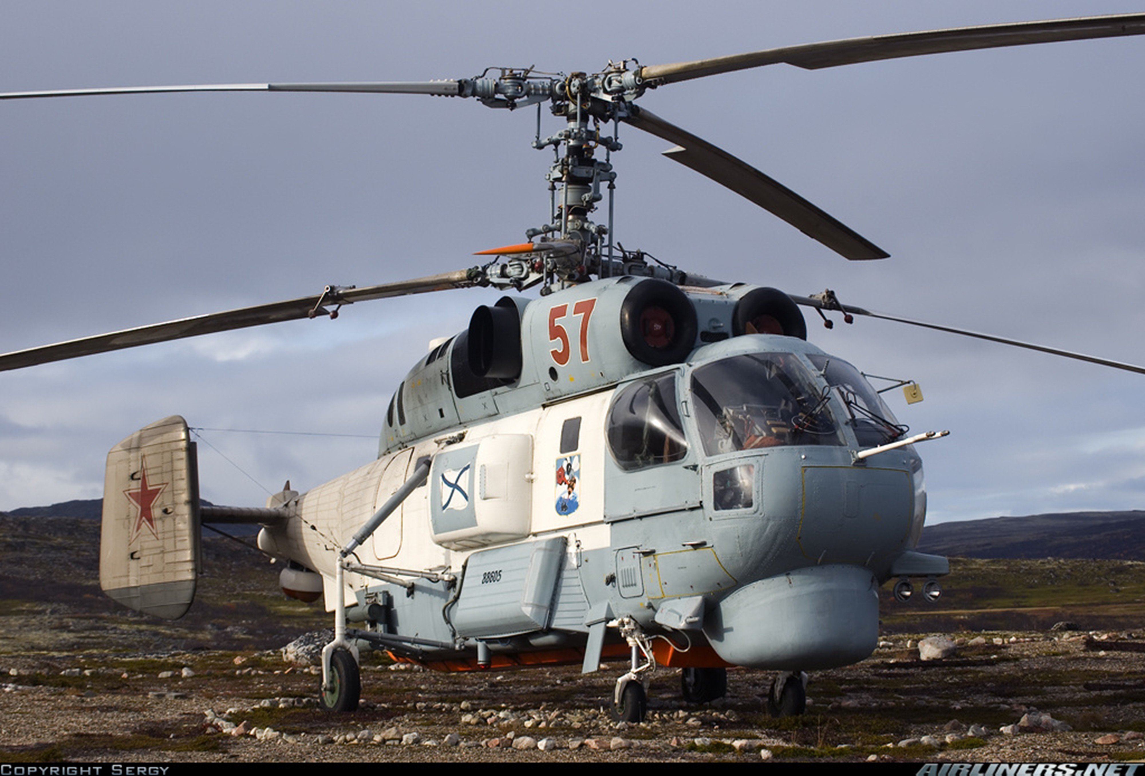 russian red star Russia helicopter aircraft Kamov Ka-26 military navy transport rescue