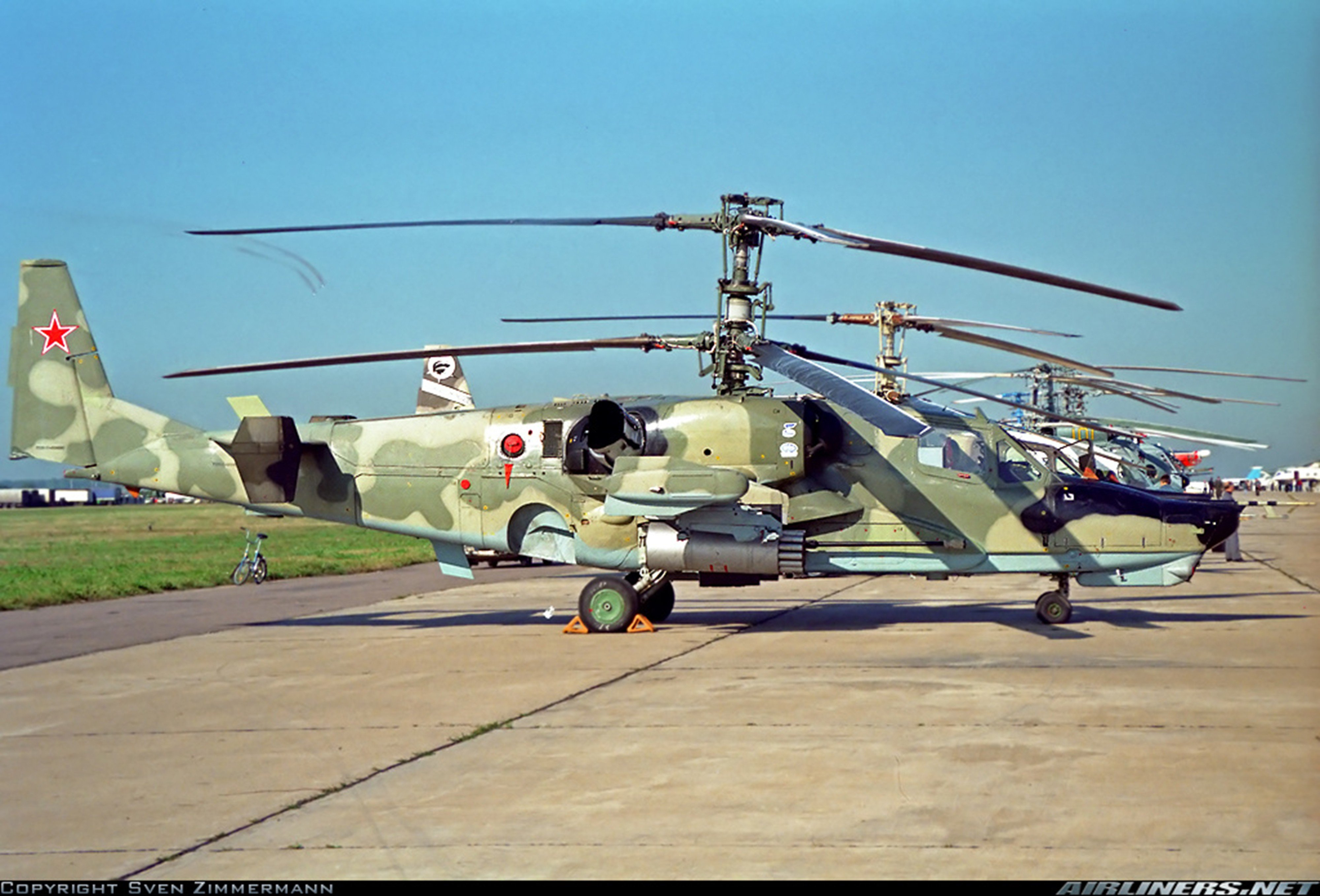 russian red star Russia helicopter aircraft Kamov Ka-52 Alligator attack military army