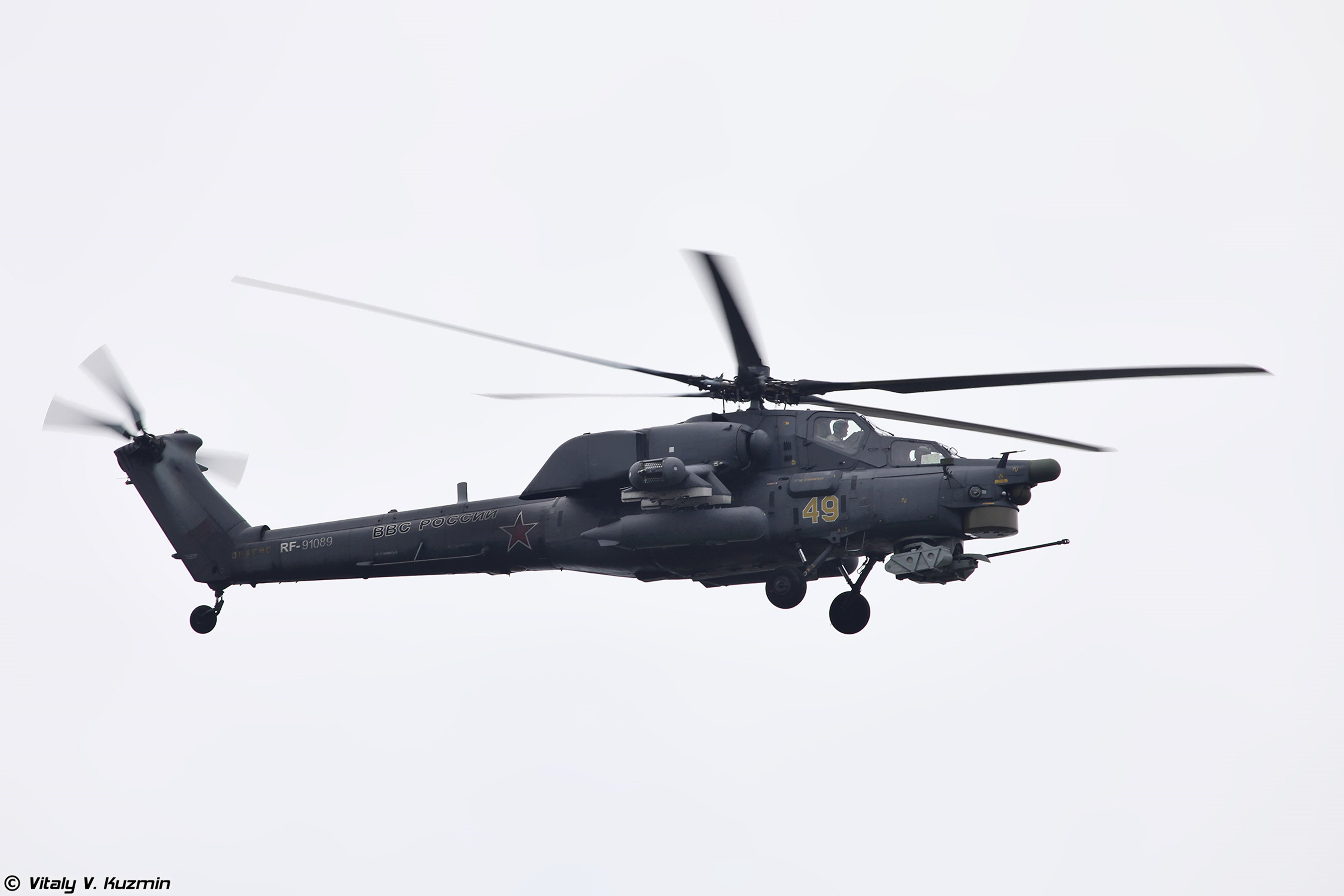 Russian Red Star Russia Helicopter Aircraft Military Army Attack Mil-Mi 4000x2667