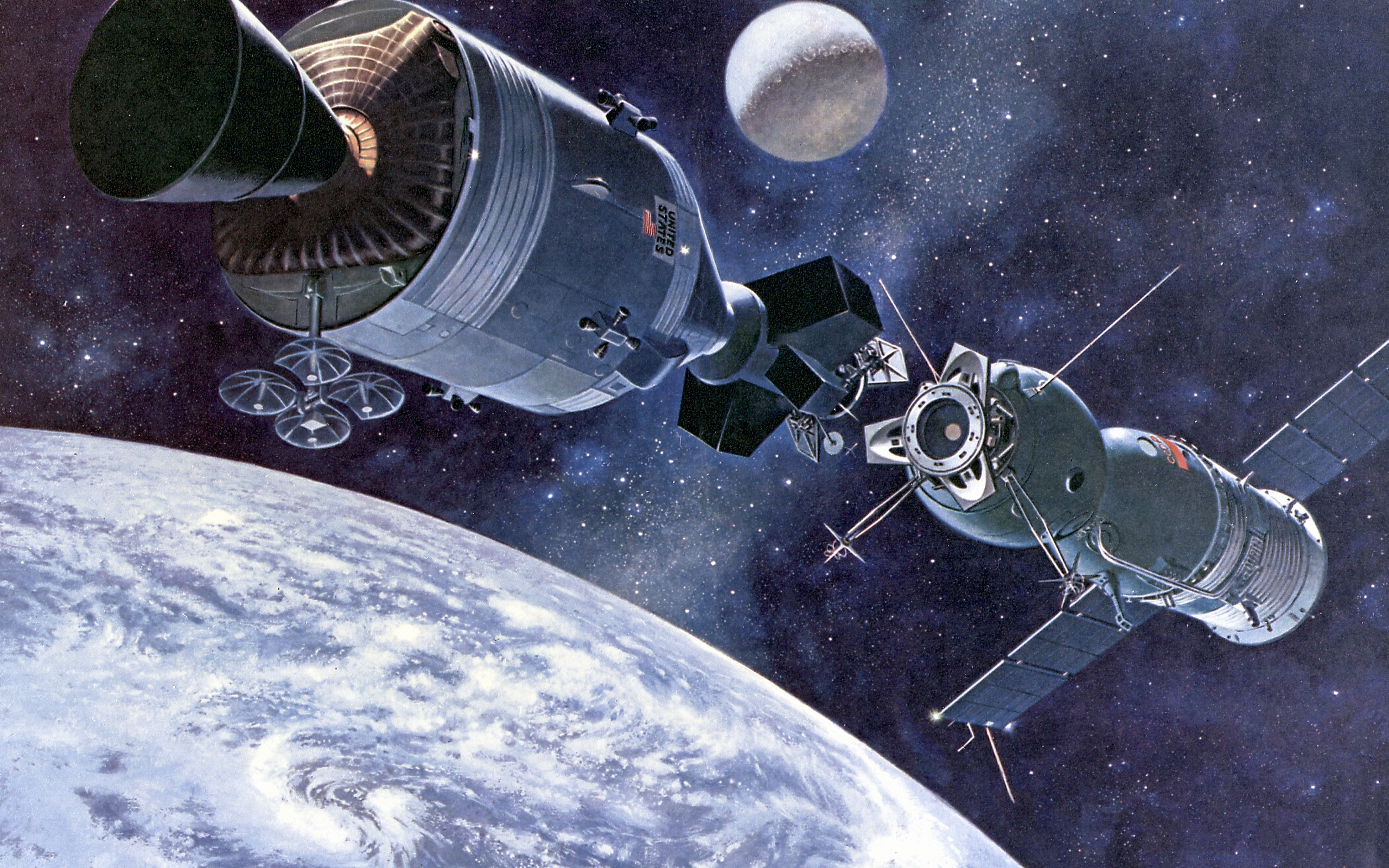 Satellite in outer space