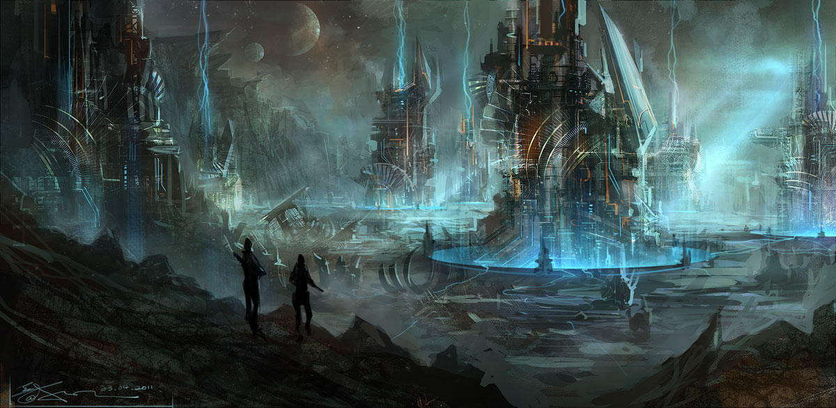 sci-fi fantasy art artwork science fiction futuristic original adventure fantasy