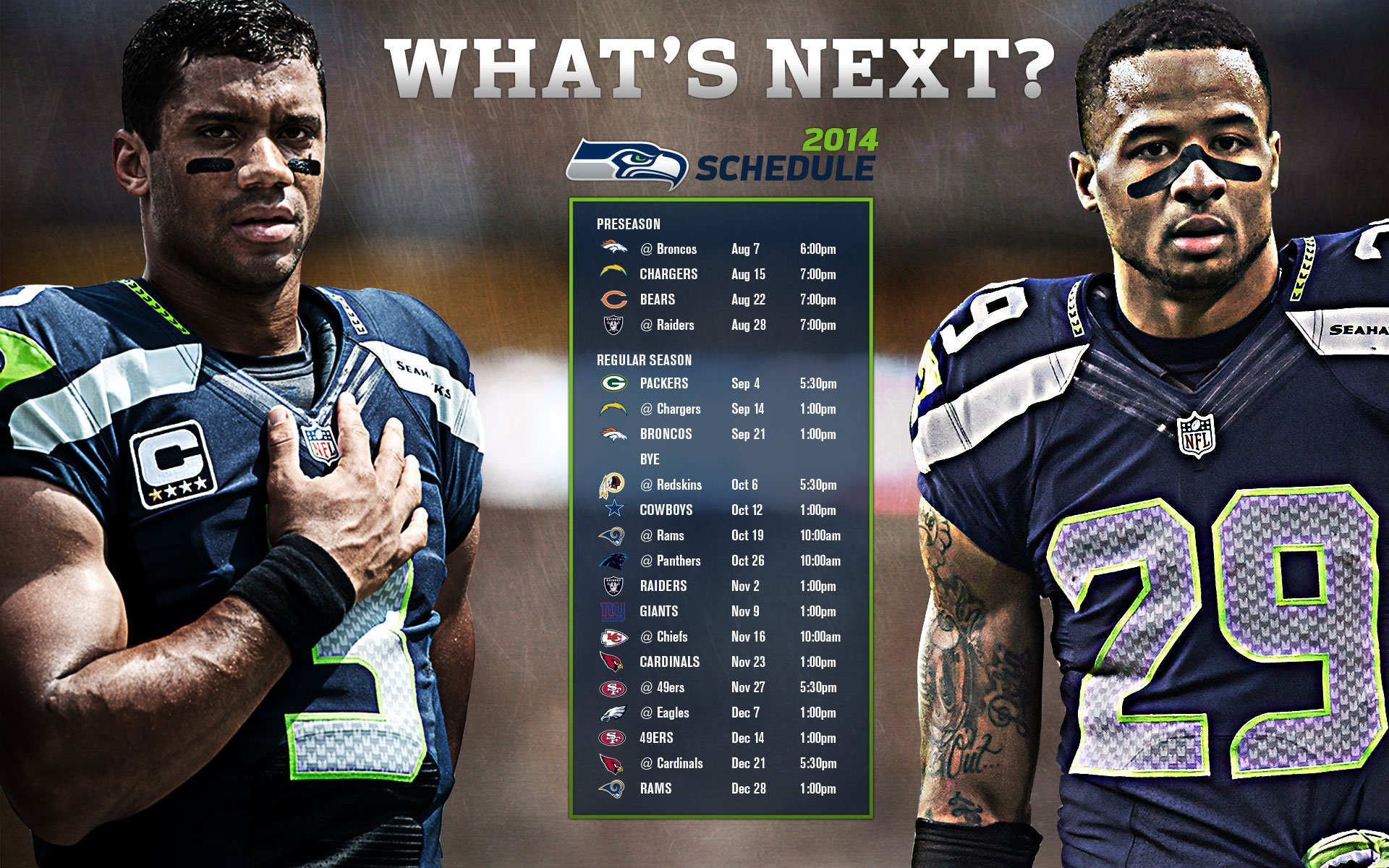 SEATTLE SEAHAWKS 2014-15 nfl football