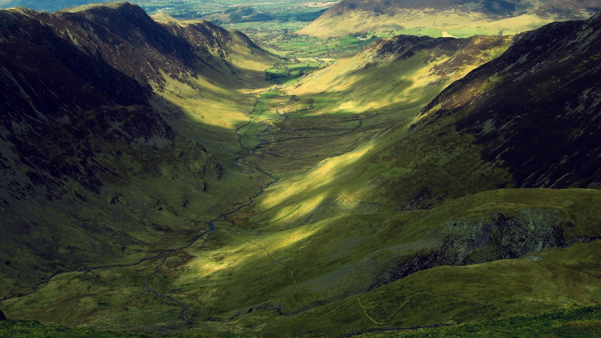 Shadows and light in the valley