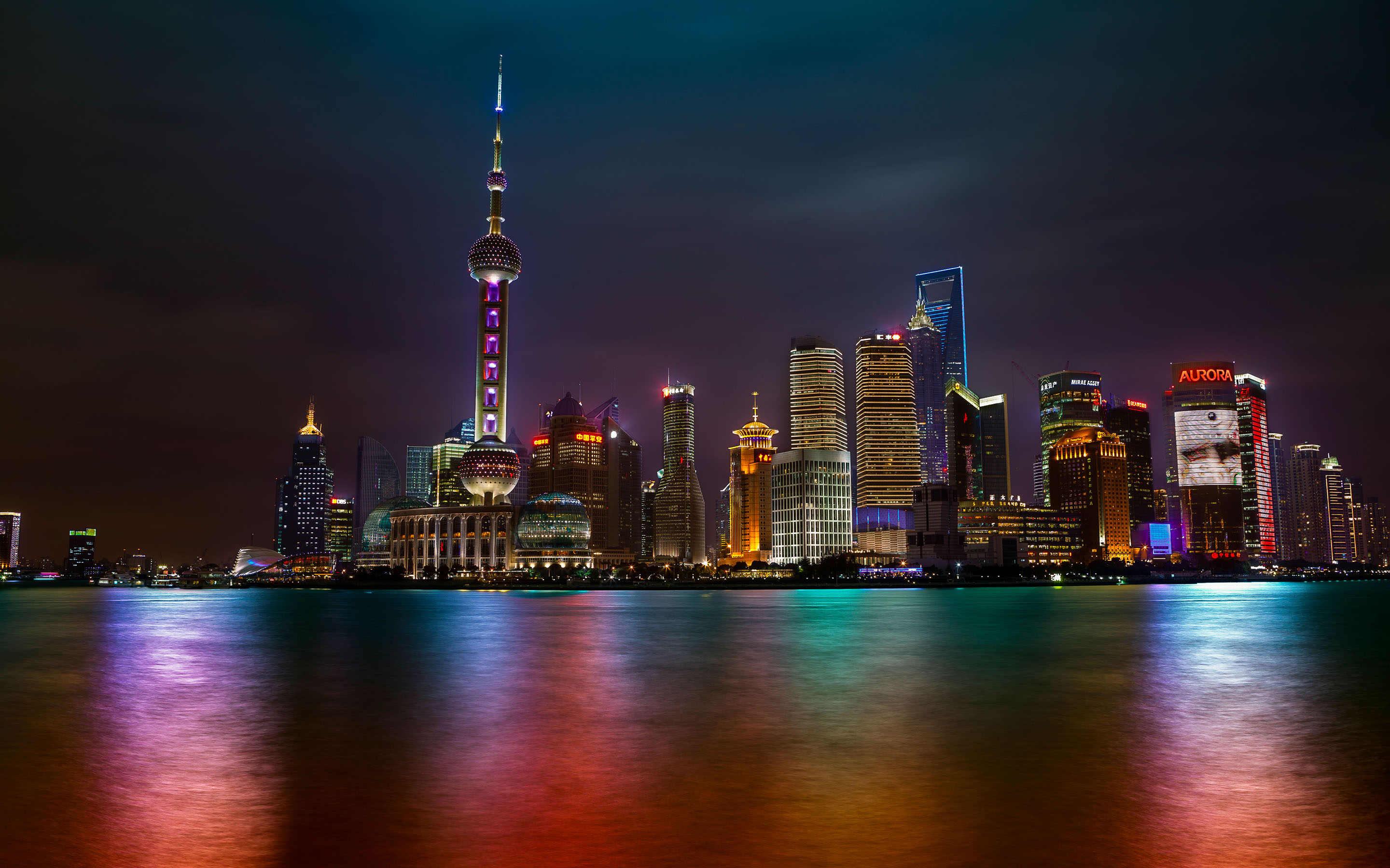 Shanghai buildings citiesarchitecturecityscapes hdr night lights skysrapers scenic