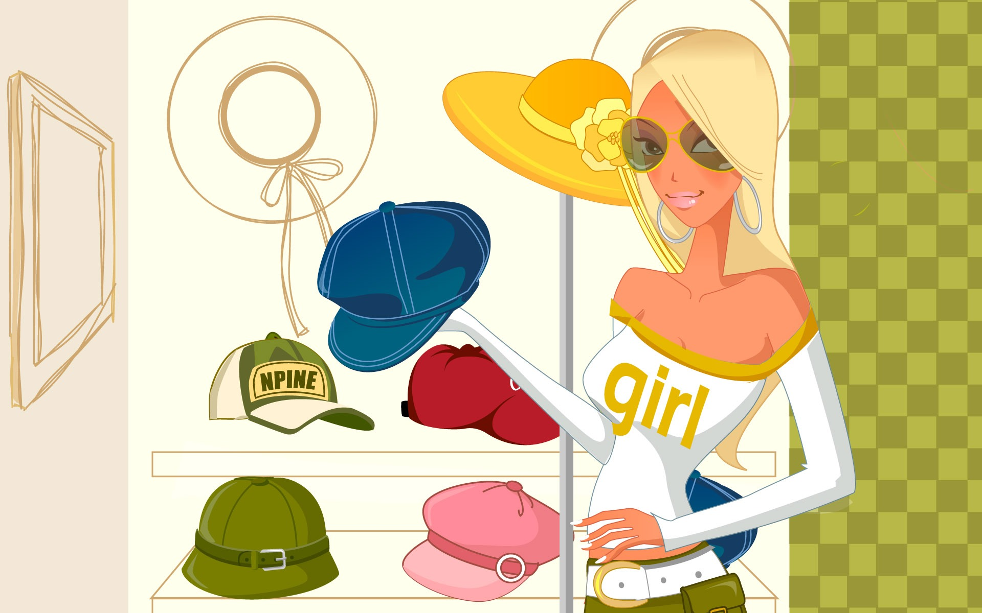 Shopping for hats