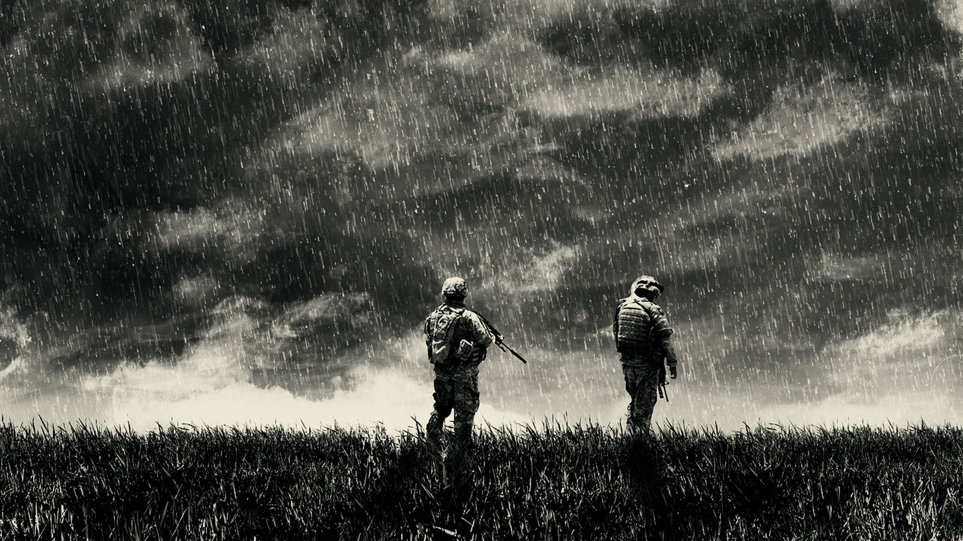 Soldiers in the rain