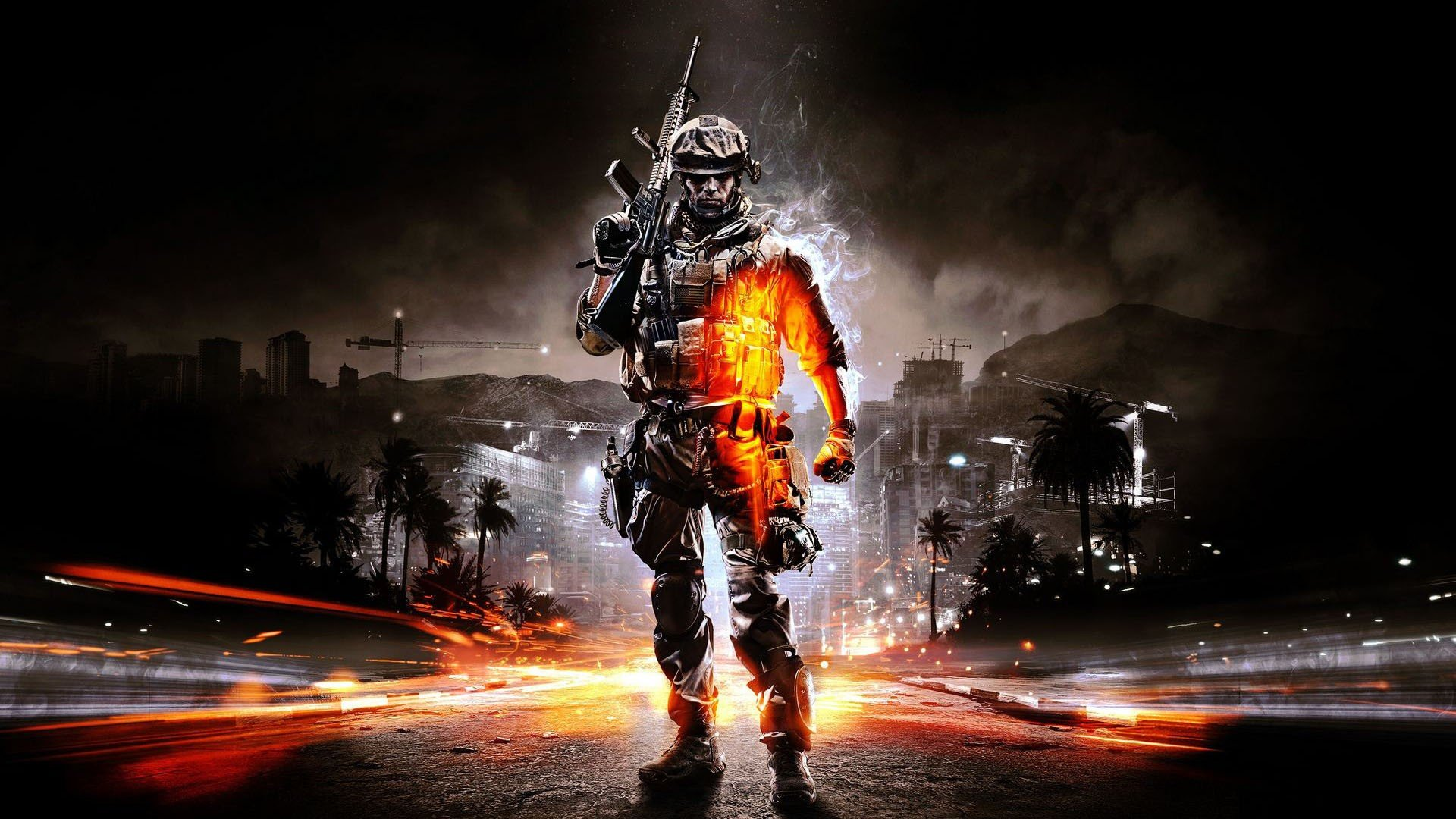 soldiers video games Battlefield guns lights weapons Battlefield 3 cities time lapse game