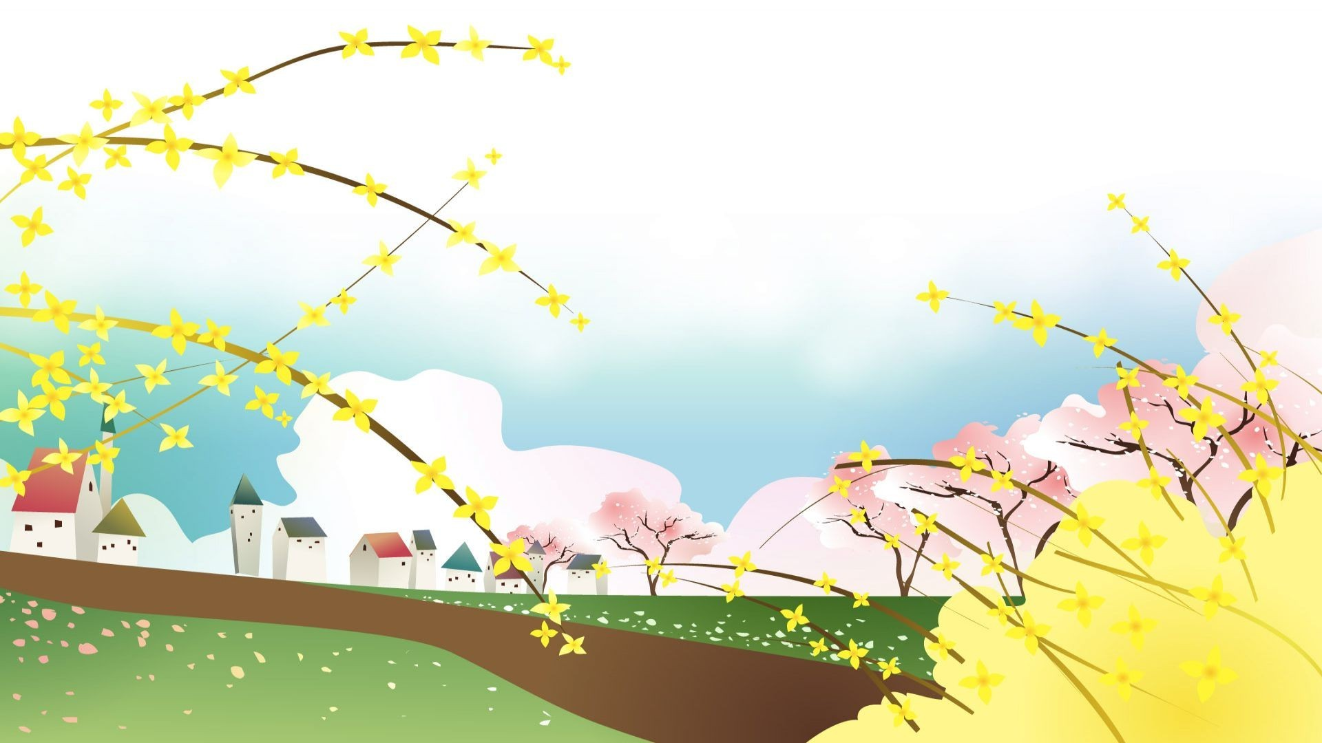 Spring day in the village