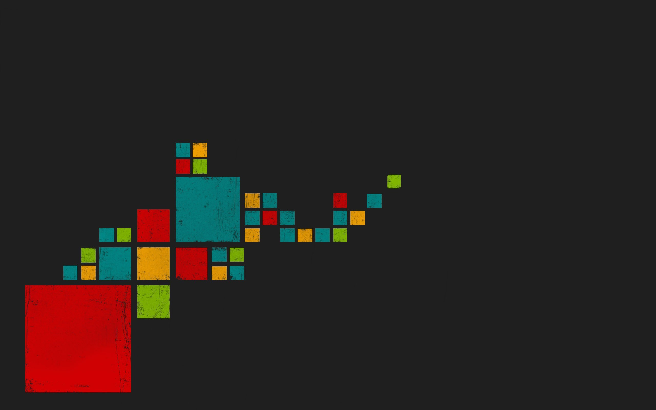 Squares Red Blue Green Yellow Gray Art