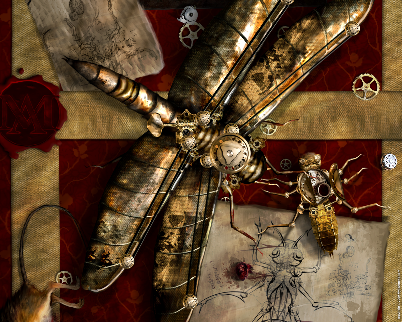 steampunk artwork dragonflies