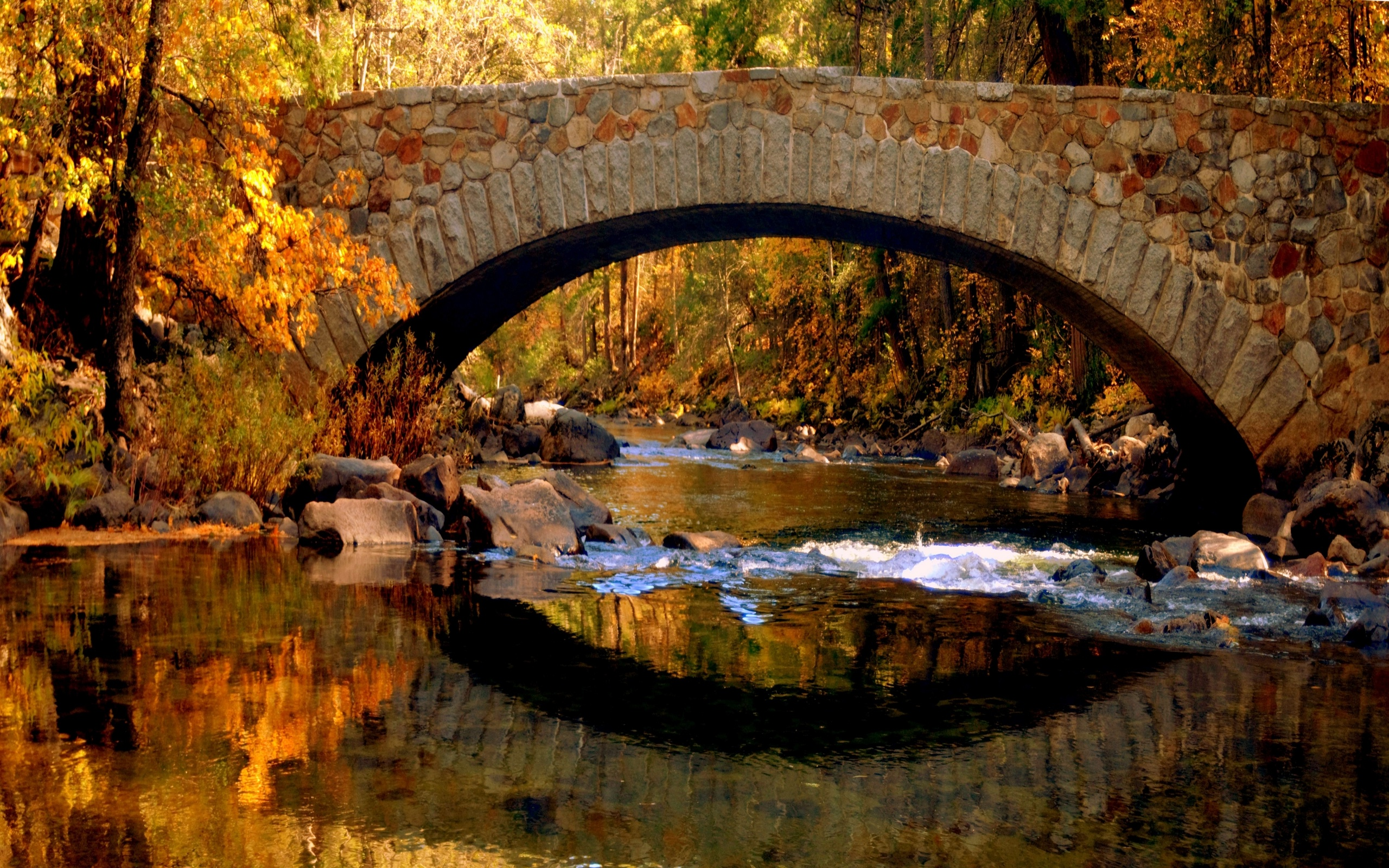Stone bridge over the river