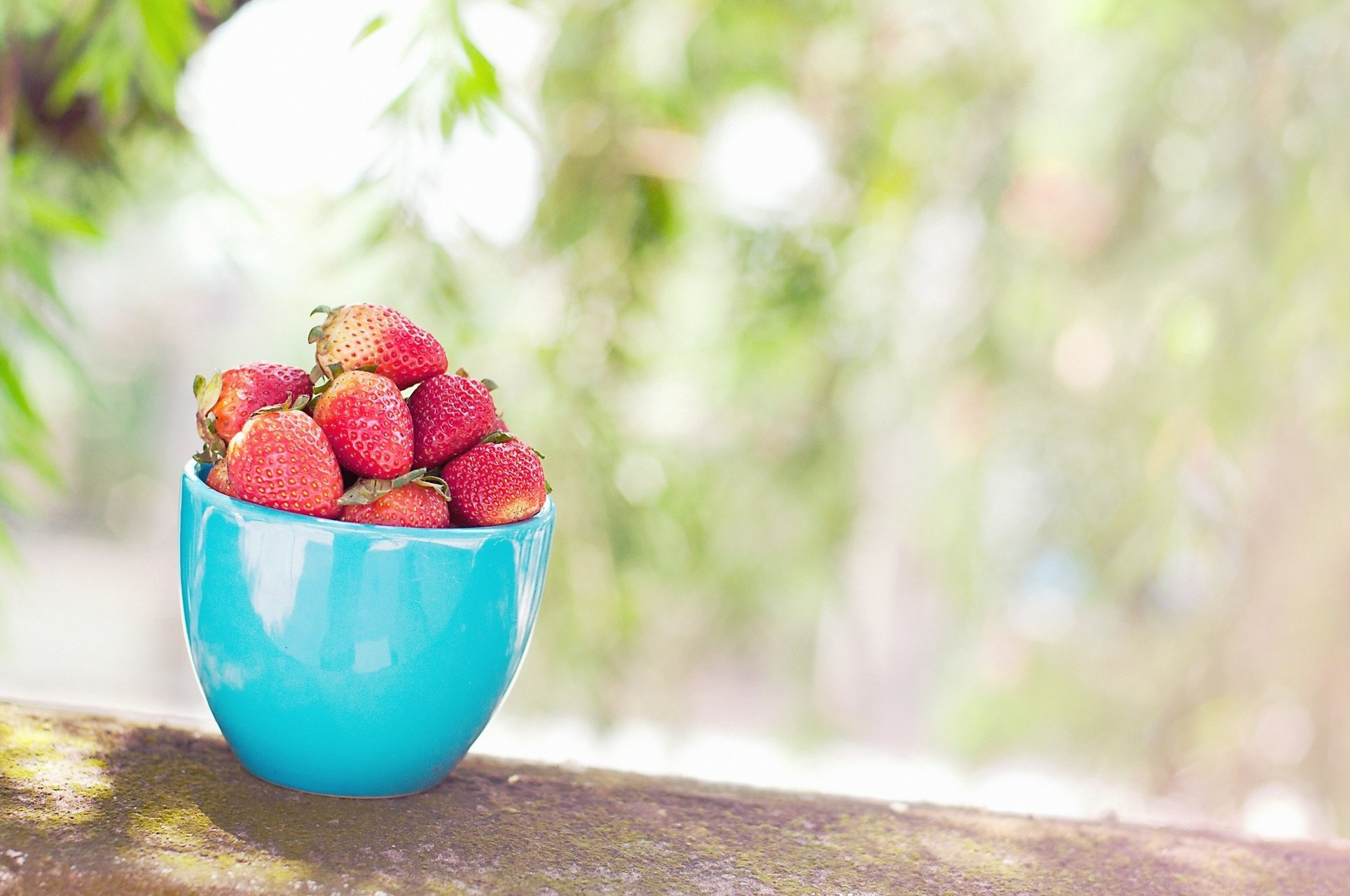 strawberry cup berry berries food