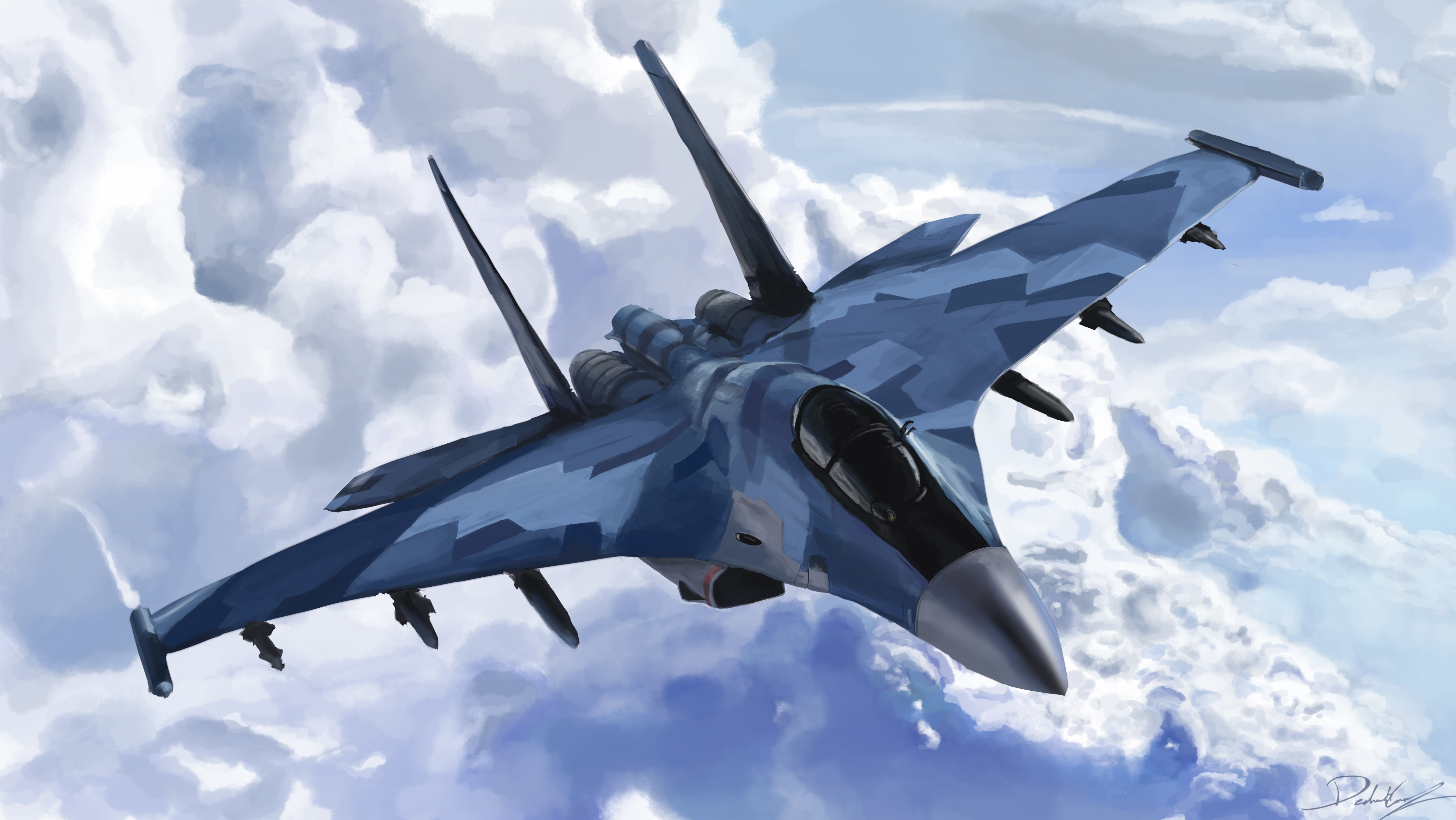 Su-35 fighter jets airplane military