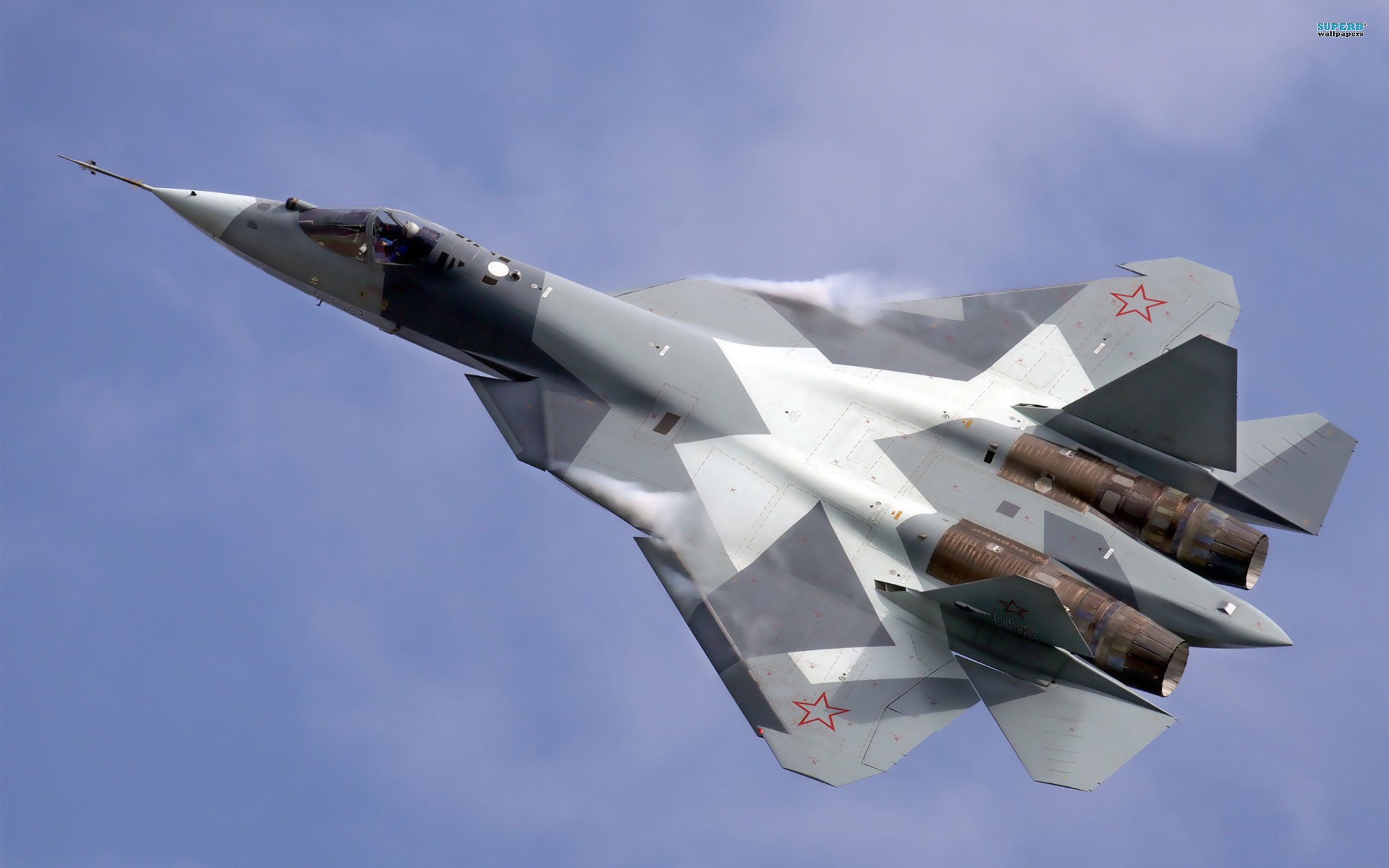 Sukhoi T-50 Fighter Jet military airplane plane stealth pak f-a russian (21)