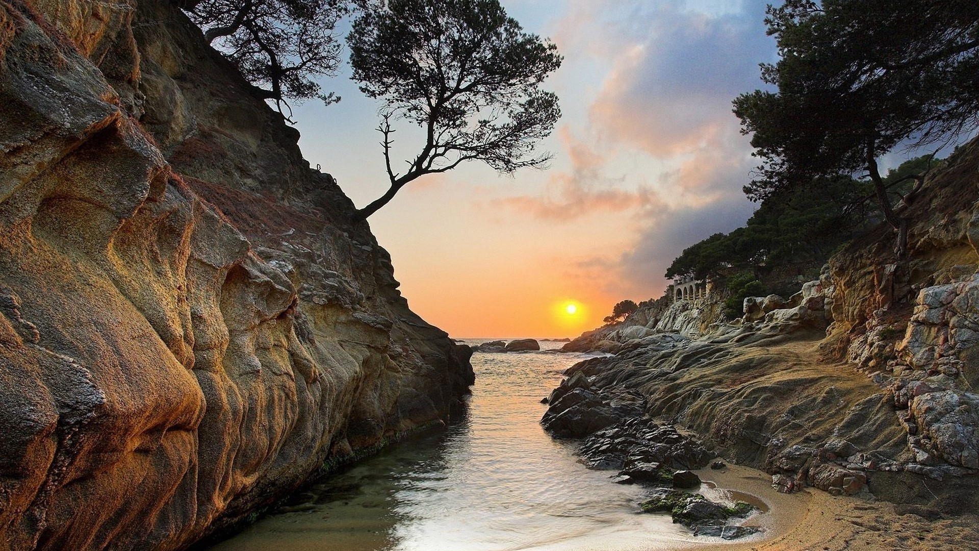 Sunset in Costa Brava, Spain