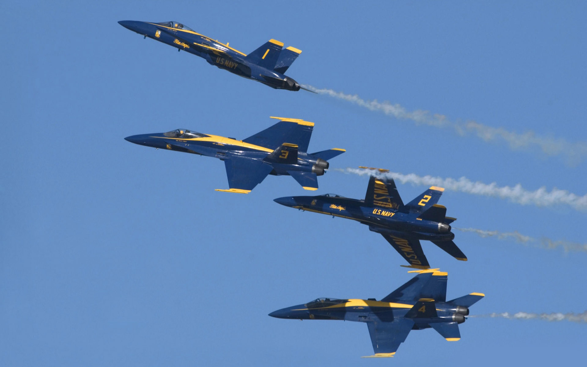 The Blue Angels McDonnell Douglas FA-18 Hornets