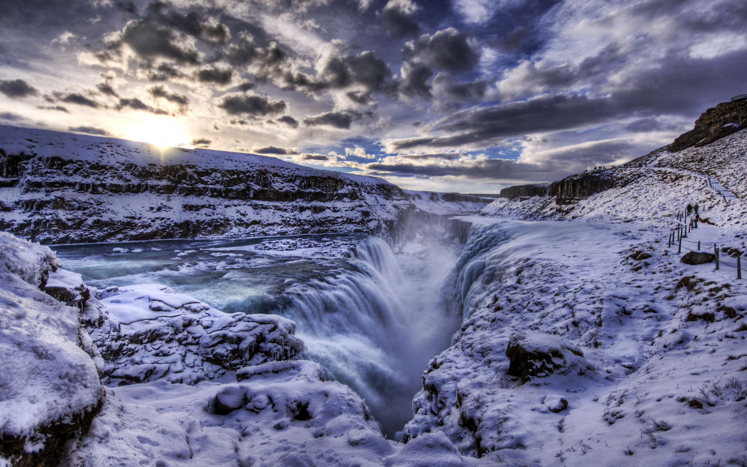 The Waterfall Crevice - Iceland